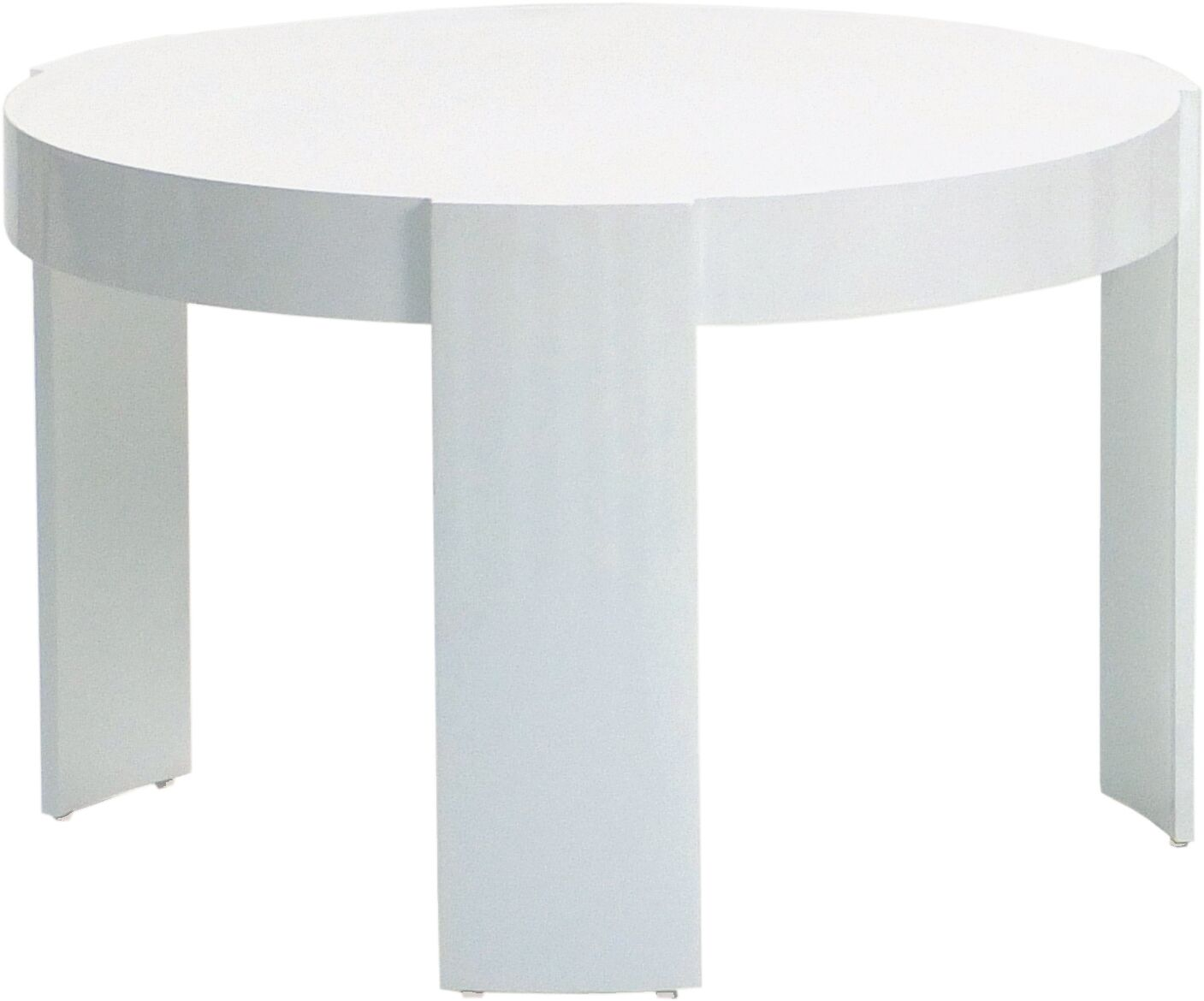 Delancey Aluminum Side Table Color: White, Table Size: Small