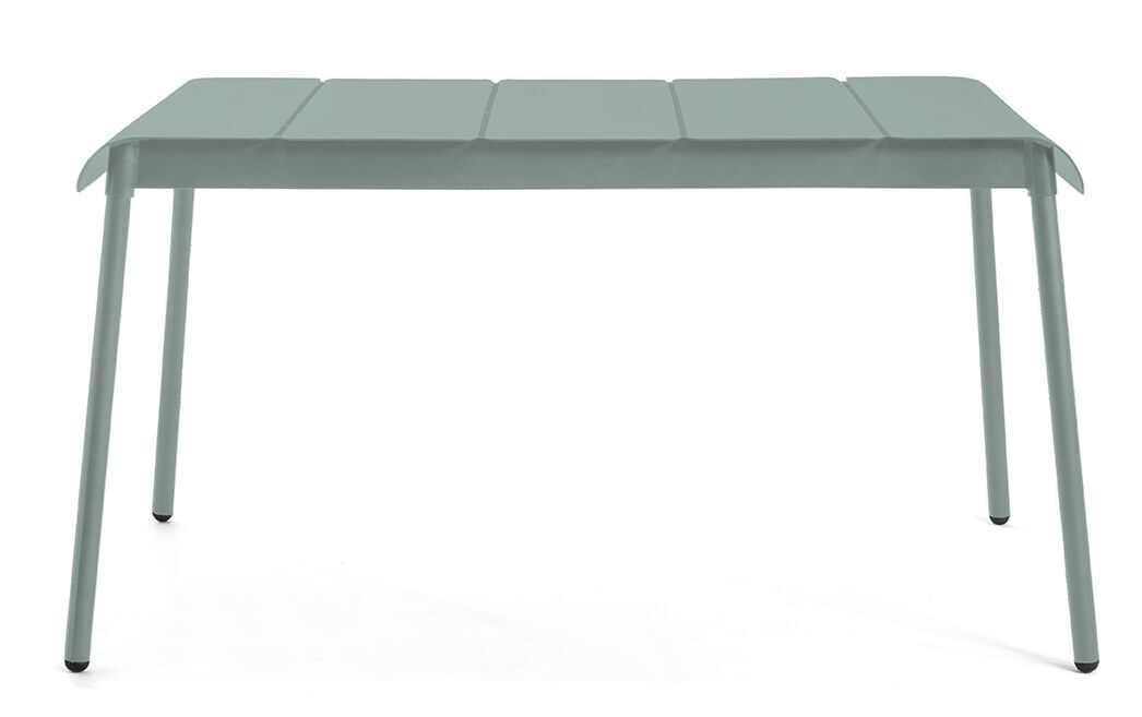 Corail 140 Aluminum Dining Table Finish: Pastel Green