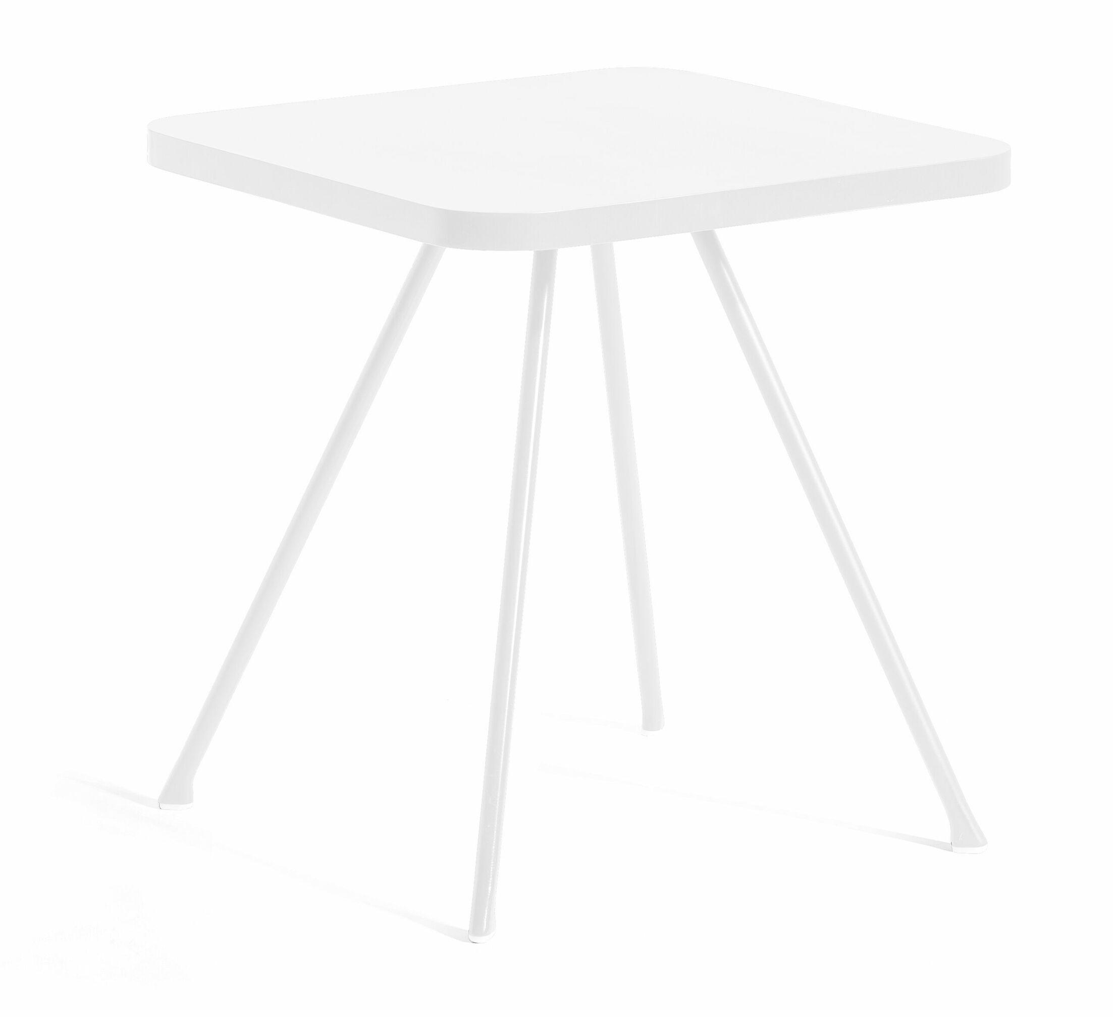 Attol Aluminum Side Table Finish: White