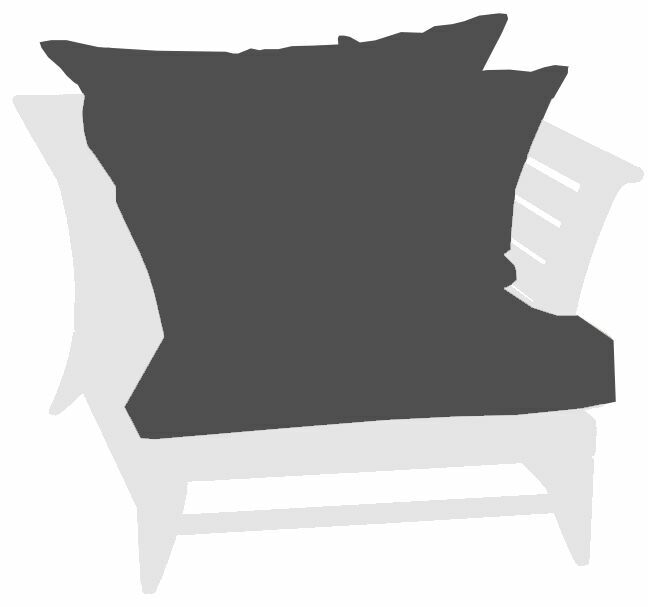 Limited 1 Indoor/Outdoor Lounge Chair Cushion Fabric: Canvas Coal