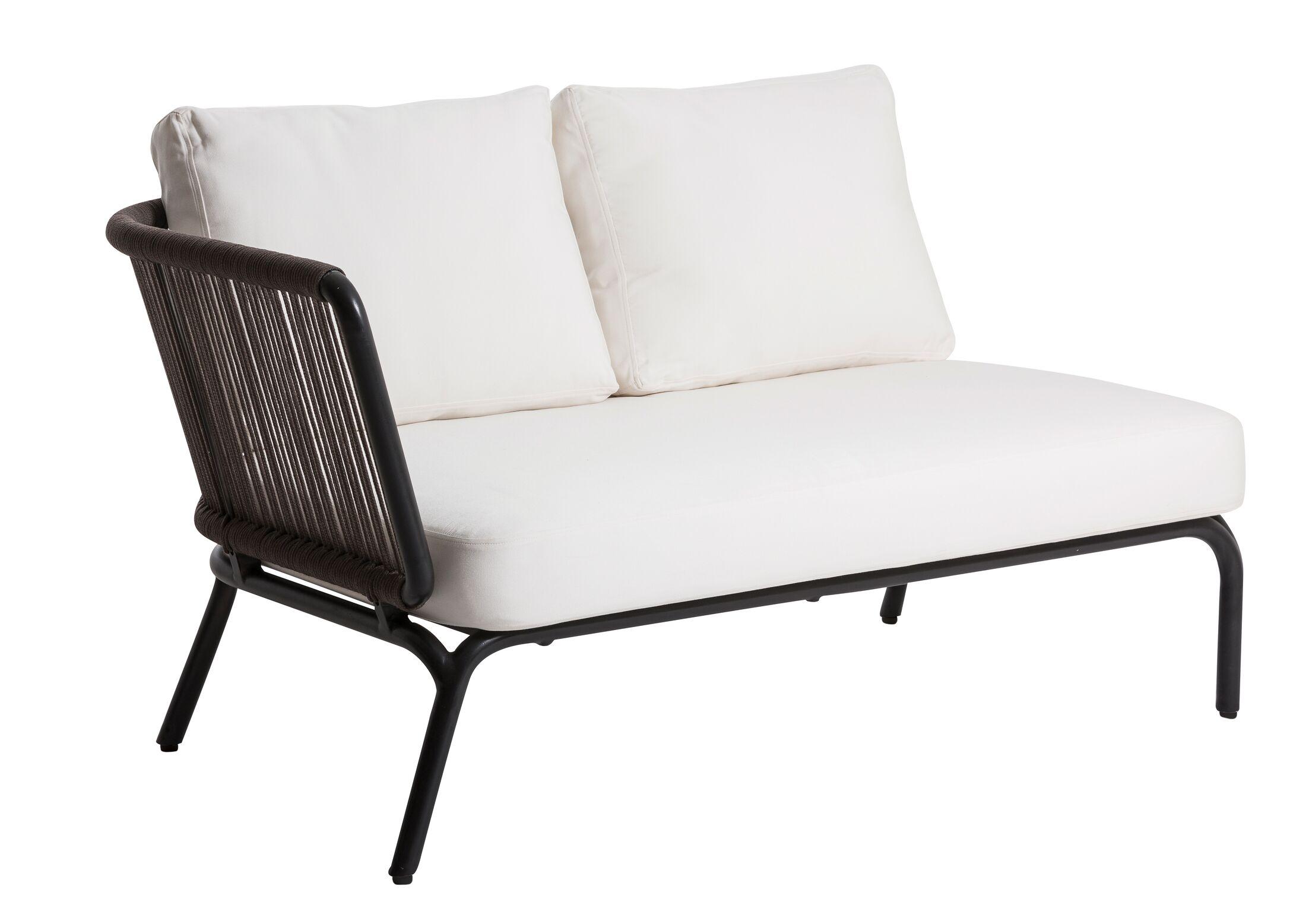 Yland Patio Sofa with Cushions Finish: Taupe / Anthracite, Fabric: Lanten Slate