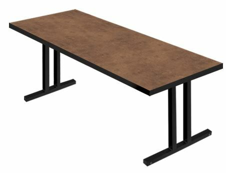 iDesign� 6' Rectangular Conference Table Leg Finish: Black, Top Finish: Flamed Soapstone, Size: 6' L x 3' W