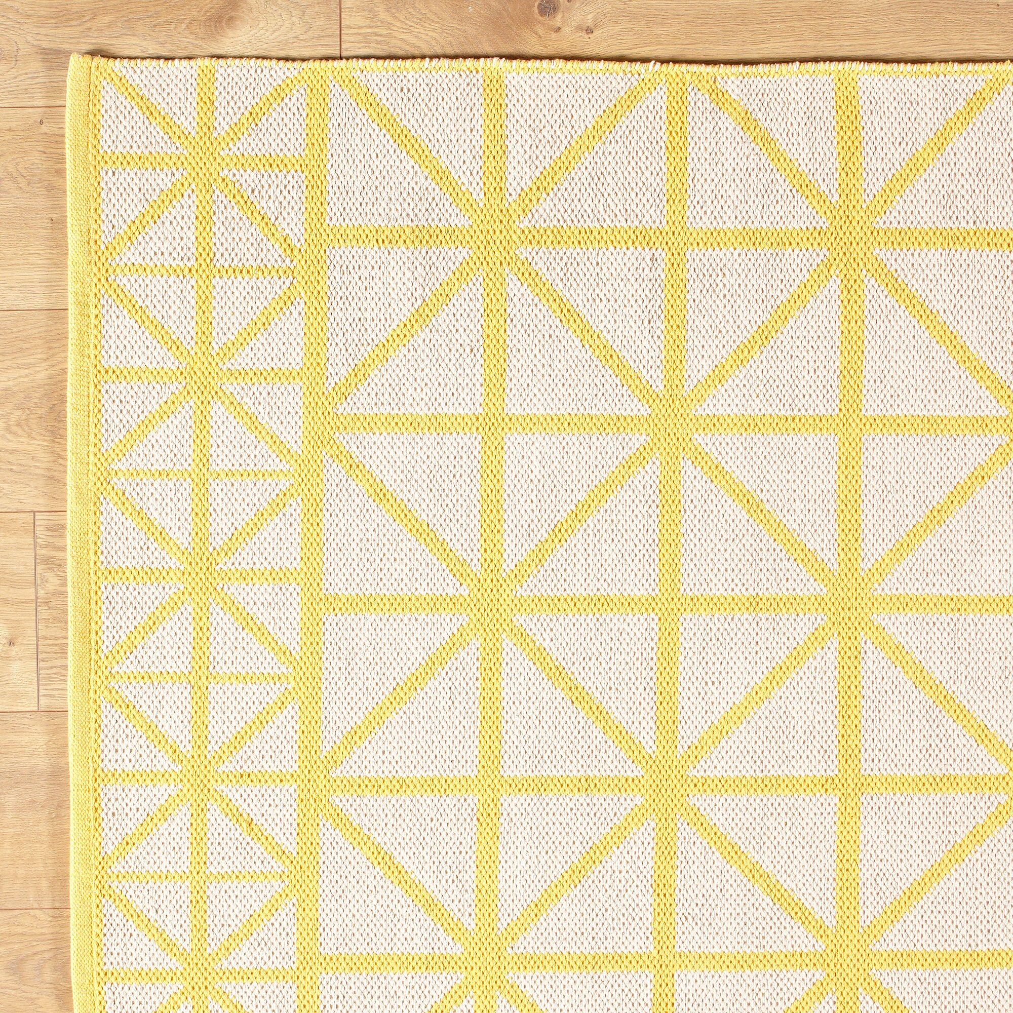 Tri Your Best Yellow Reversible Rug Rug Size: 5' x 8'