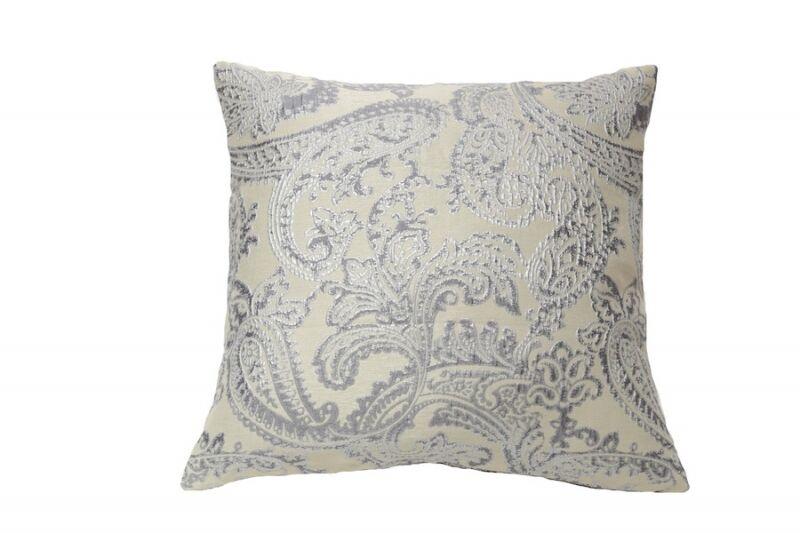 Art of Home Arabesque Throw Pillow Color: Silver