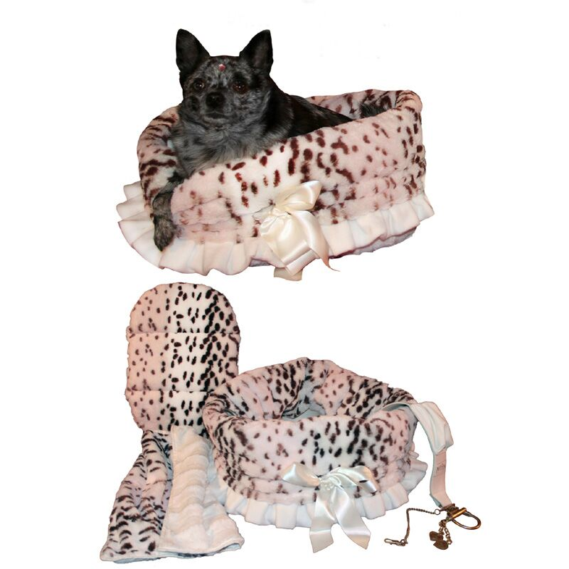 Snuggle Bug Reversible Leopard Pet Carrier