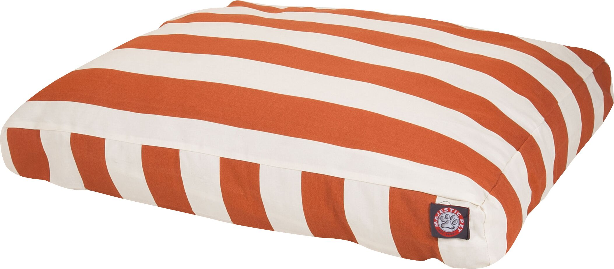 Vertical Stripe Pillow Dog Bed Color: Burnt Orange, Size: Extra Small (20