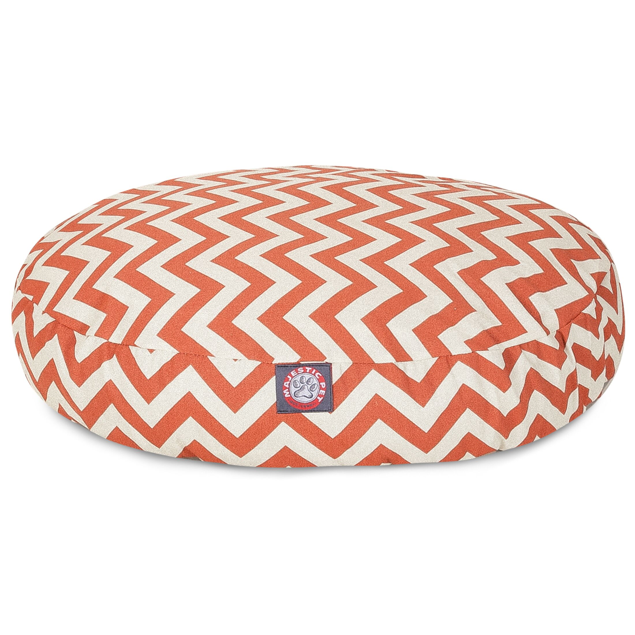 Zig Zag Round Pet Bed Color: Burnt Orange, Size: Medium (36