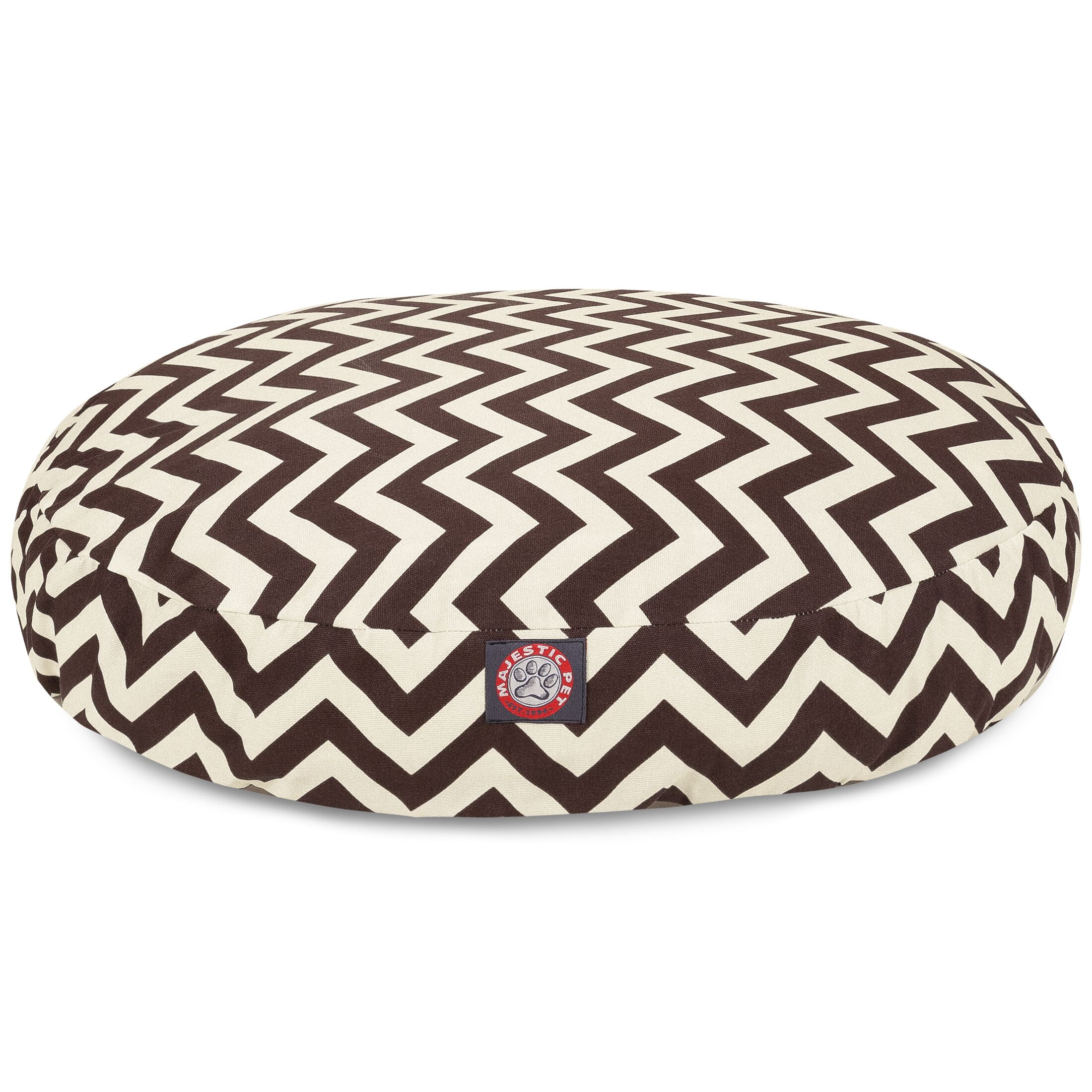 Zig Zag Round Pet Bed Size: Medium (36