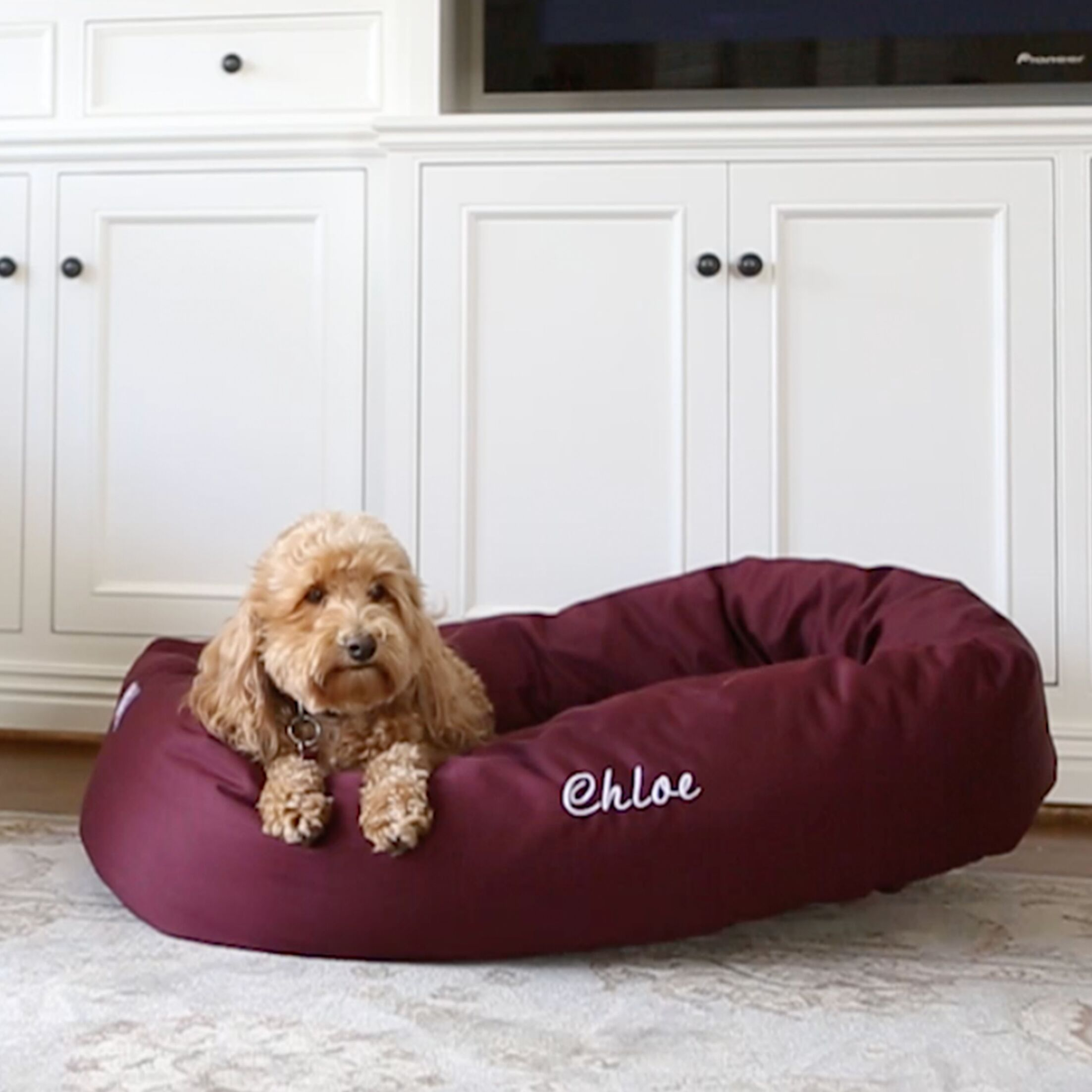 Majestic Pet Personalized Bagel Donut Bolster Dog Bed Size / Color: Extra Large (11