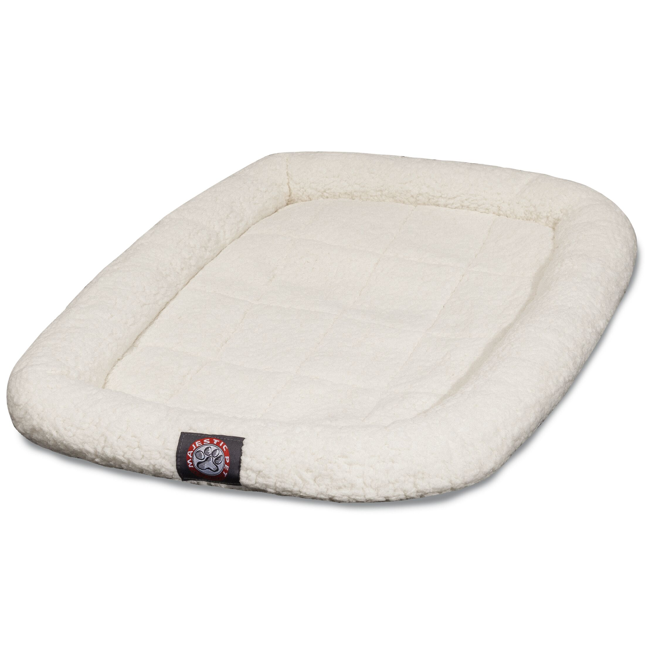 Cotton Crate Donut Dog Bed Color: Sherpa, Size: Intermediate (36