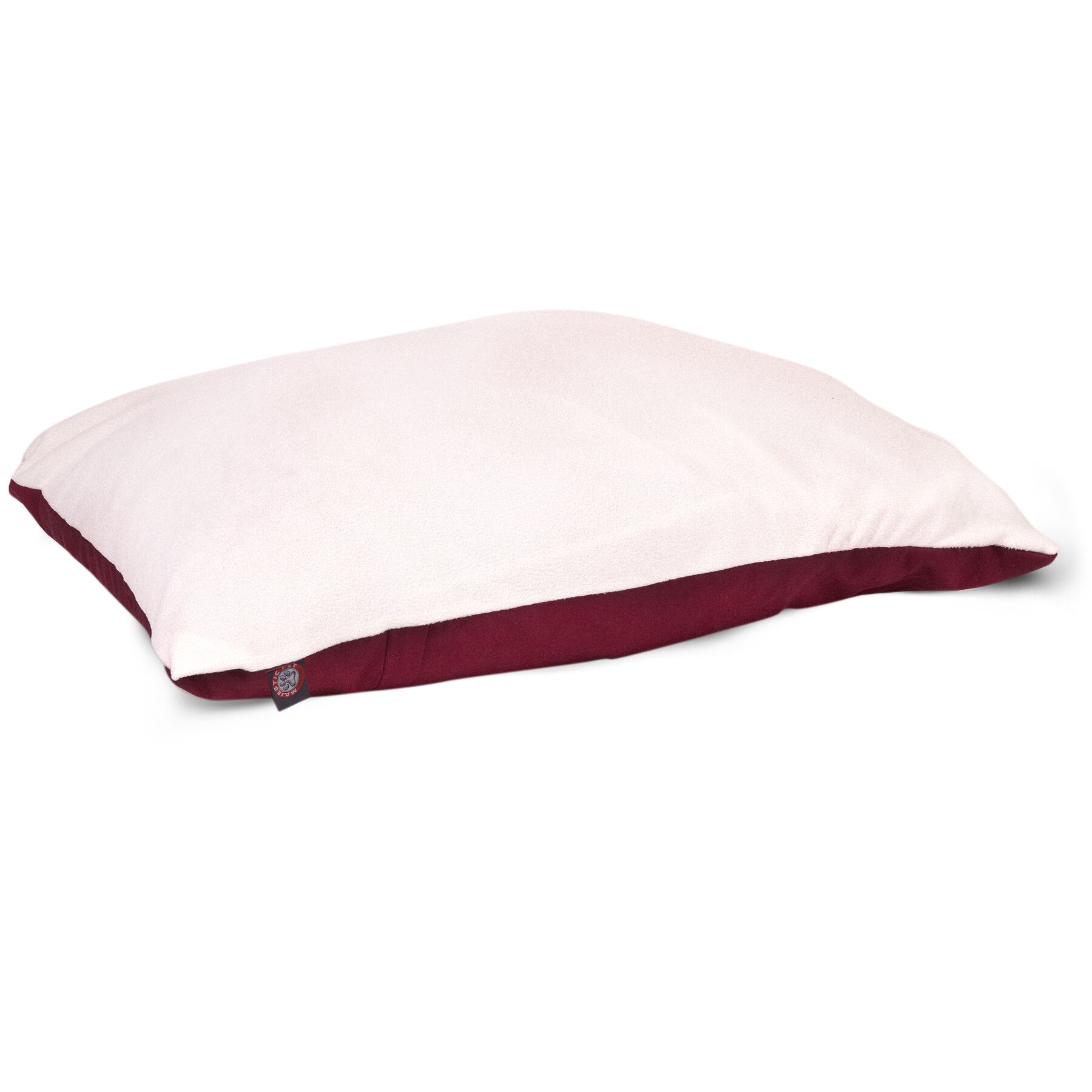 Rory Pillow Pet Bed Color: Burgundy, Size: Large (48