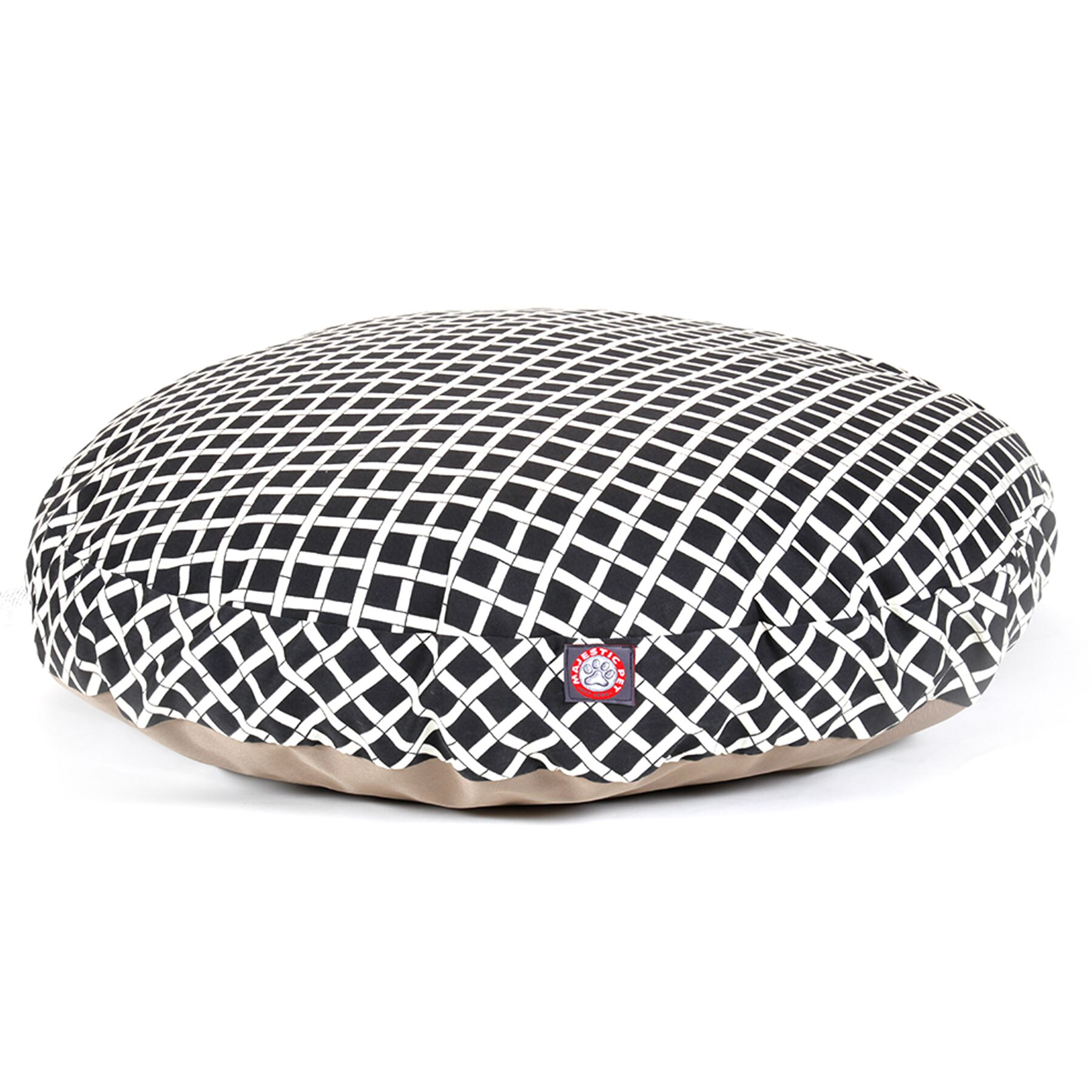Bamboo Round Pet Bed Color: Black, Size: Medium (36 L x 36 W)