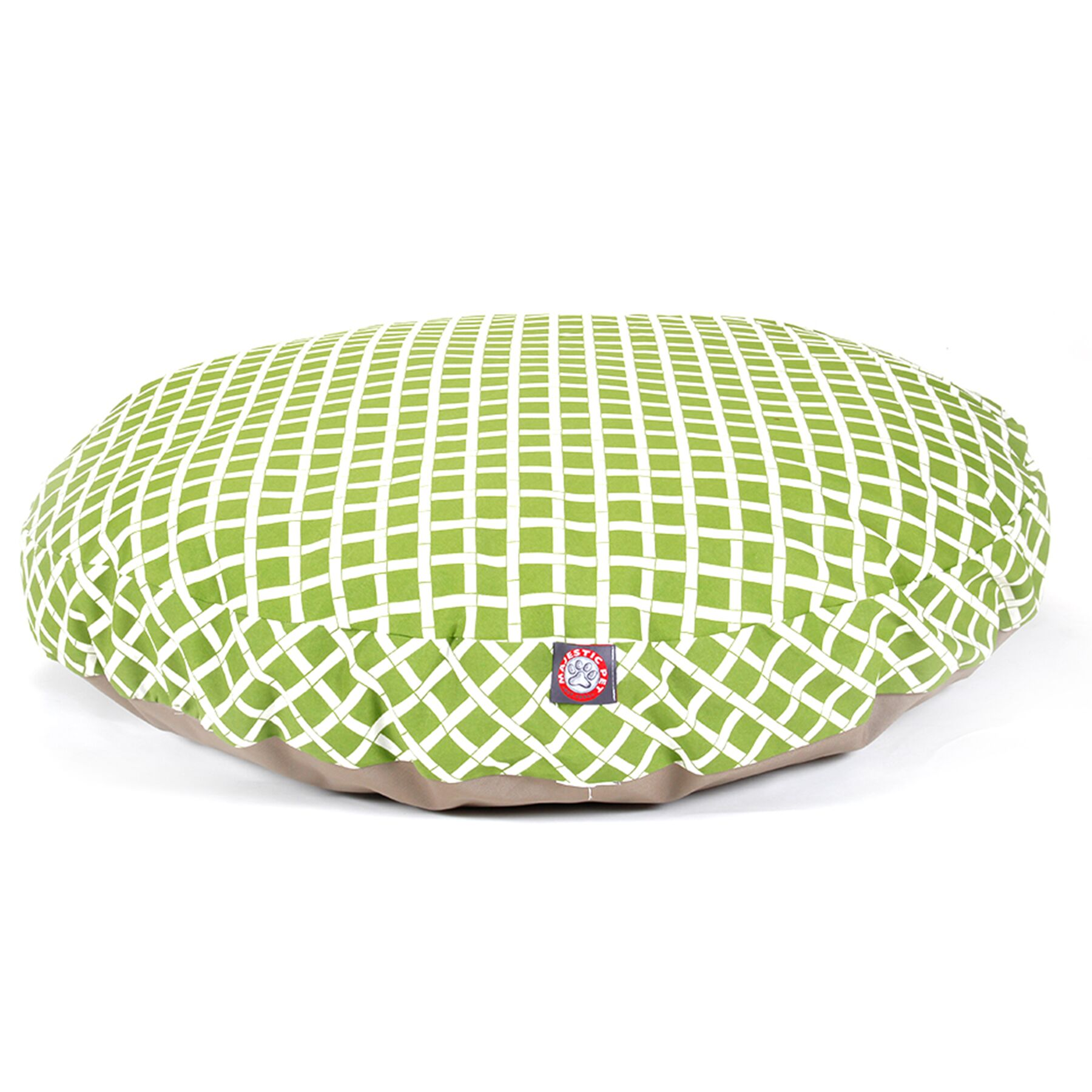 Bamboo Round Pet Bed Color: Sage, Size: Large (42 L x 42 W)