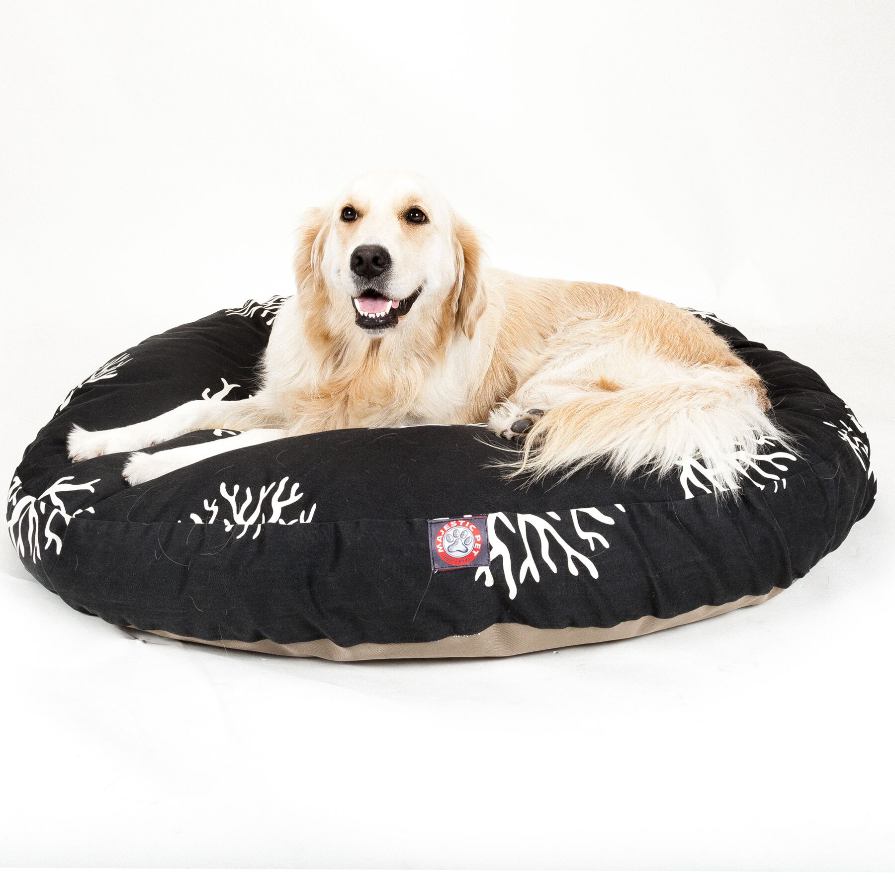 Coral Round Pet Bed Pillow Size: Large (42