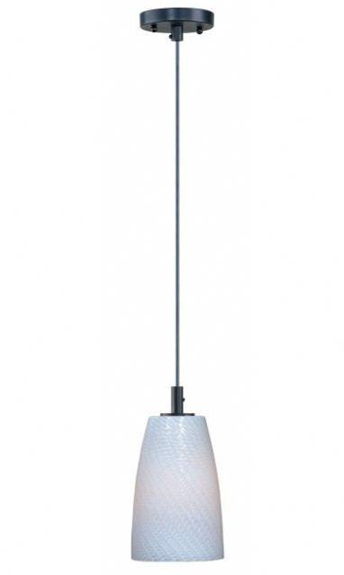 Carte 1-Light Cone Pendant Finish: Bronze, Bulb Type: Fluorescent, Shade Color: White Ripple
