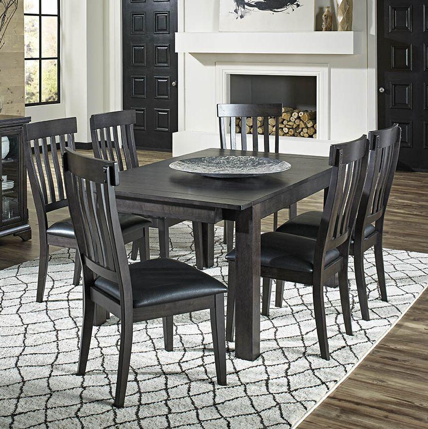 Alder 7 Piece Solid Wood Dining Set
