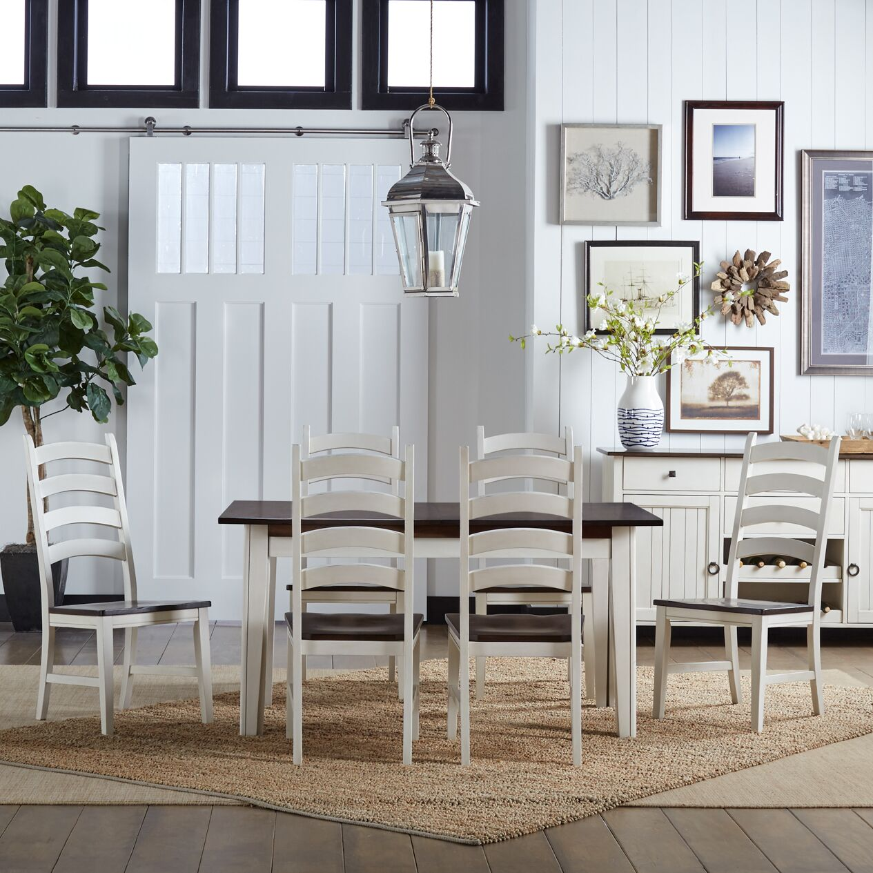 Dining Table Sets Tamiami 7 Piece Solid Wood Dining Set