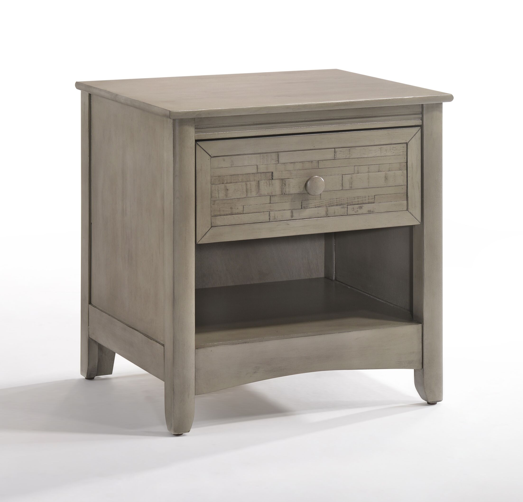 Secrets Cape Cod 1 Drawer Nightstand Color: Gray Wash