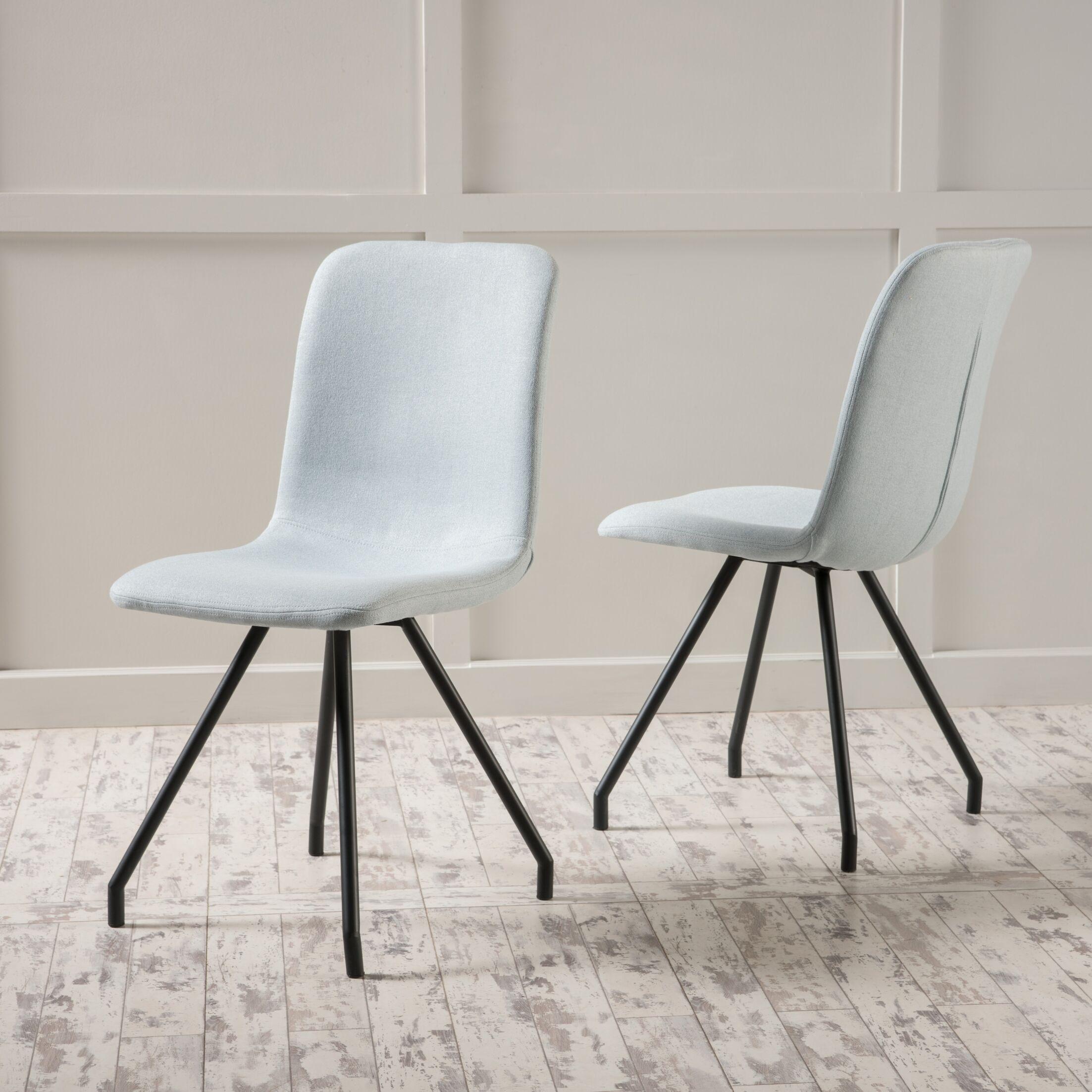 Border Side Chair Upholstery Color: Light Sky