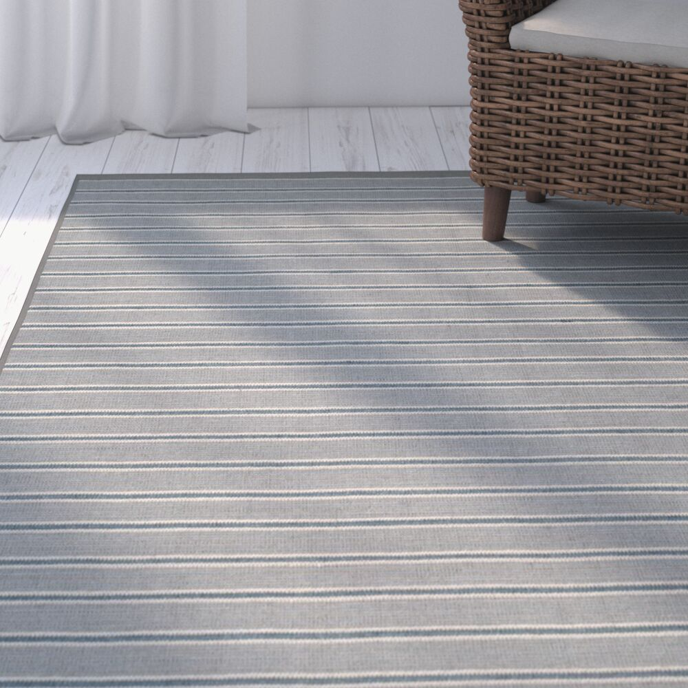Palm Shores Hand-Woven Gray Area Rug Rug Size: Rectangle 5' x 8'
