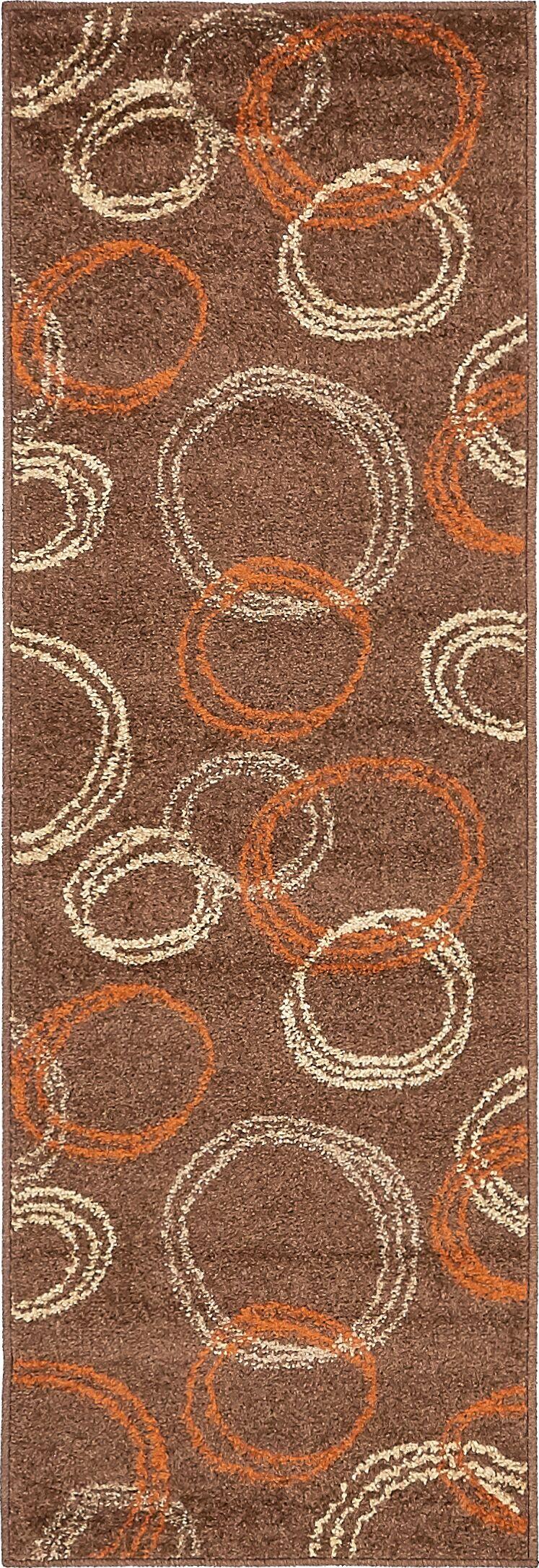 Jachim Brown Area Rug Rug Size: Round 8' x 8'
