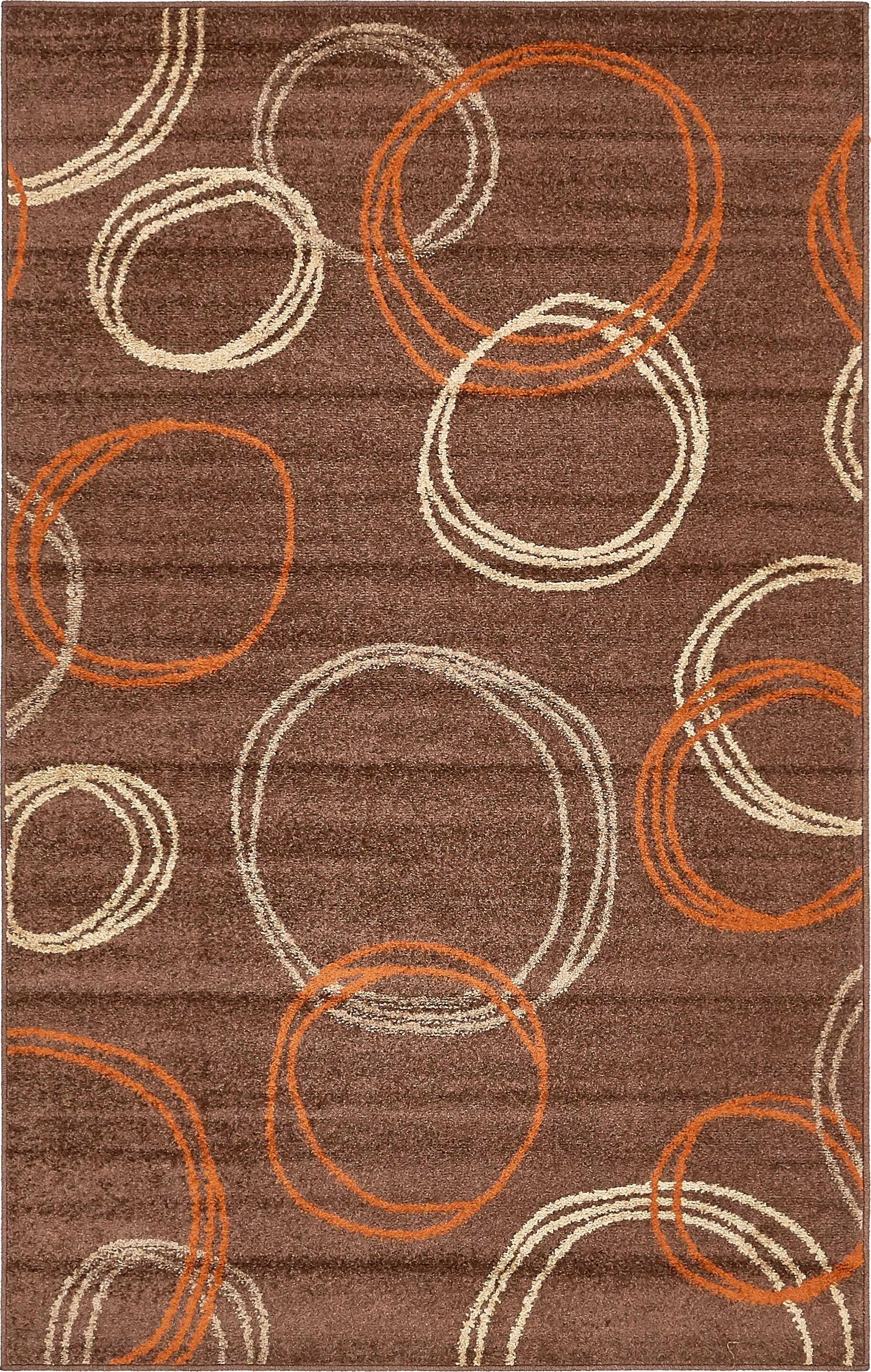 Jachim Brown Area Rug Rug Size: Rectangle 5' x 8'