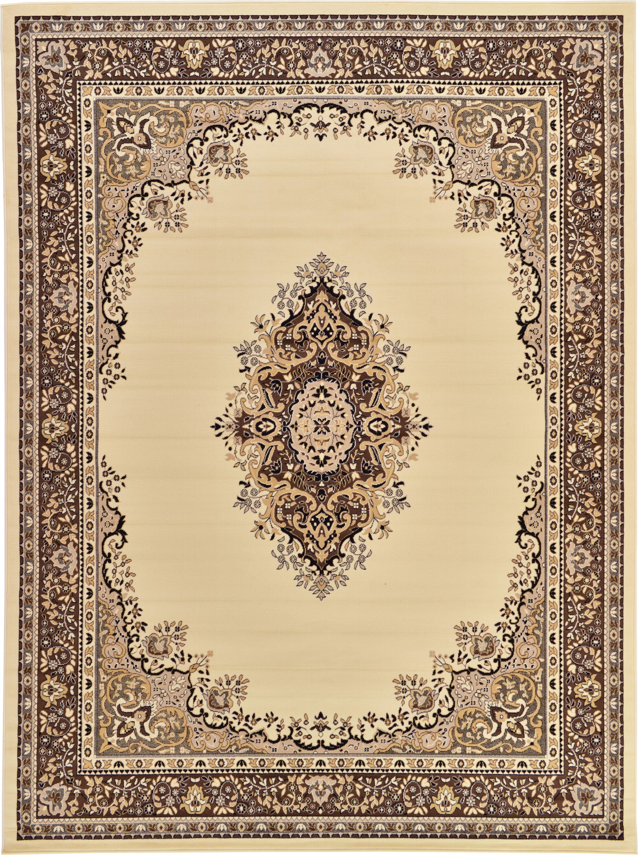 Britain Ivory Area Rug Rug Size: Rectangle 9'10