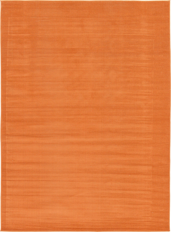 Risley Orange Area Rug Rug Size: Rectangle 7' x 10'