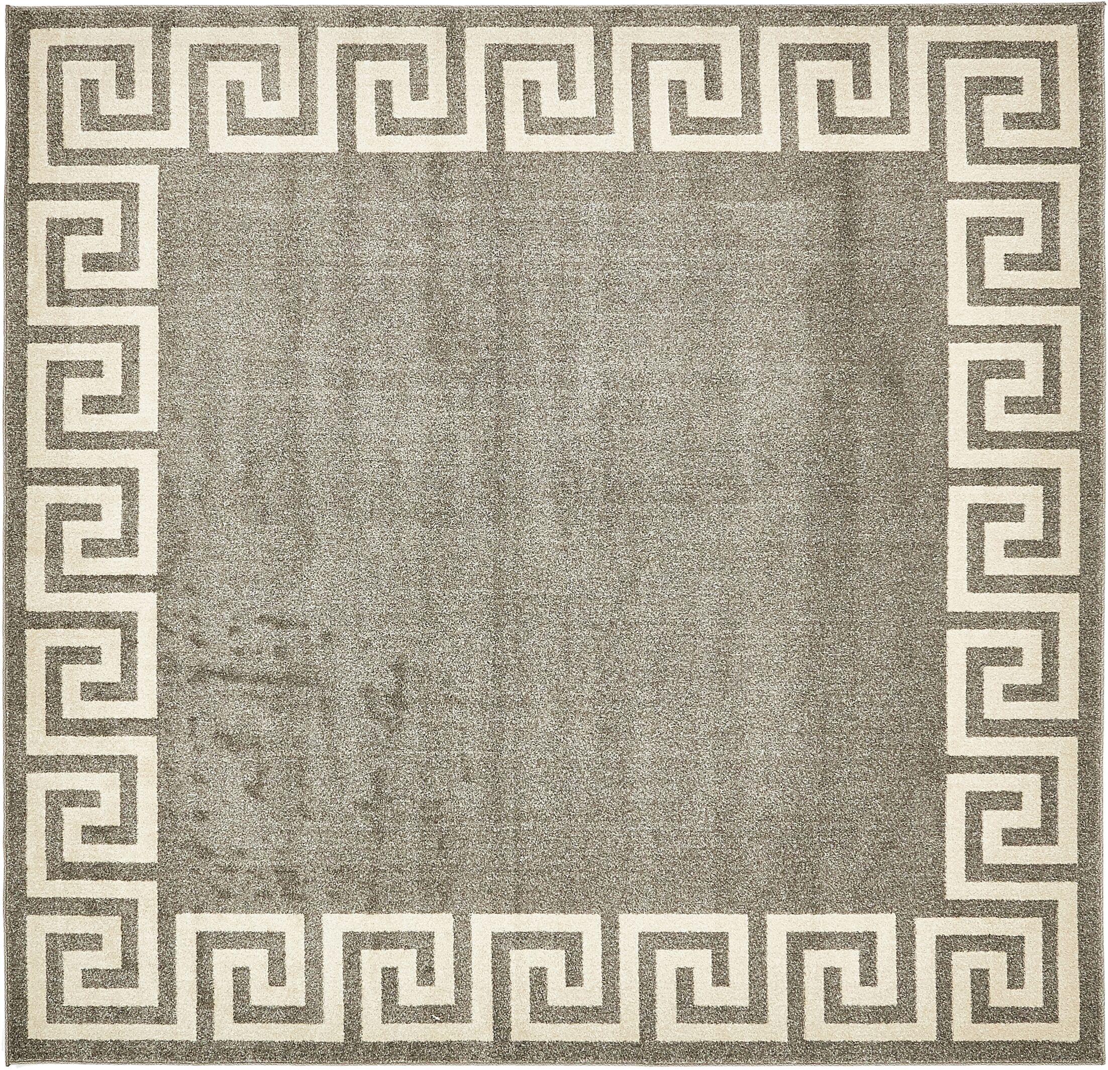 Cendrillon Gray Area Rug Rug Size: Square 8'