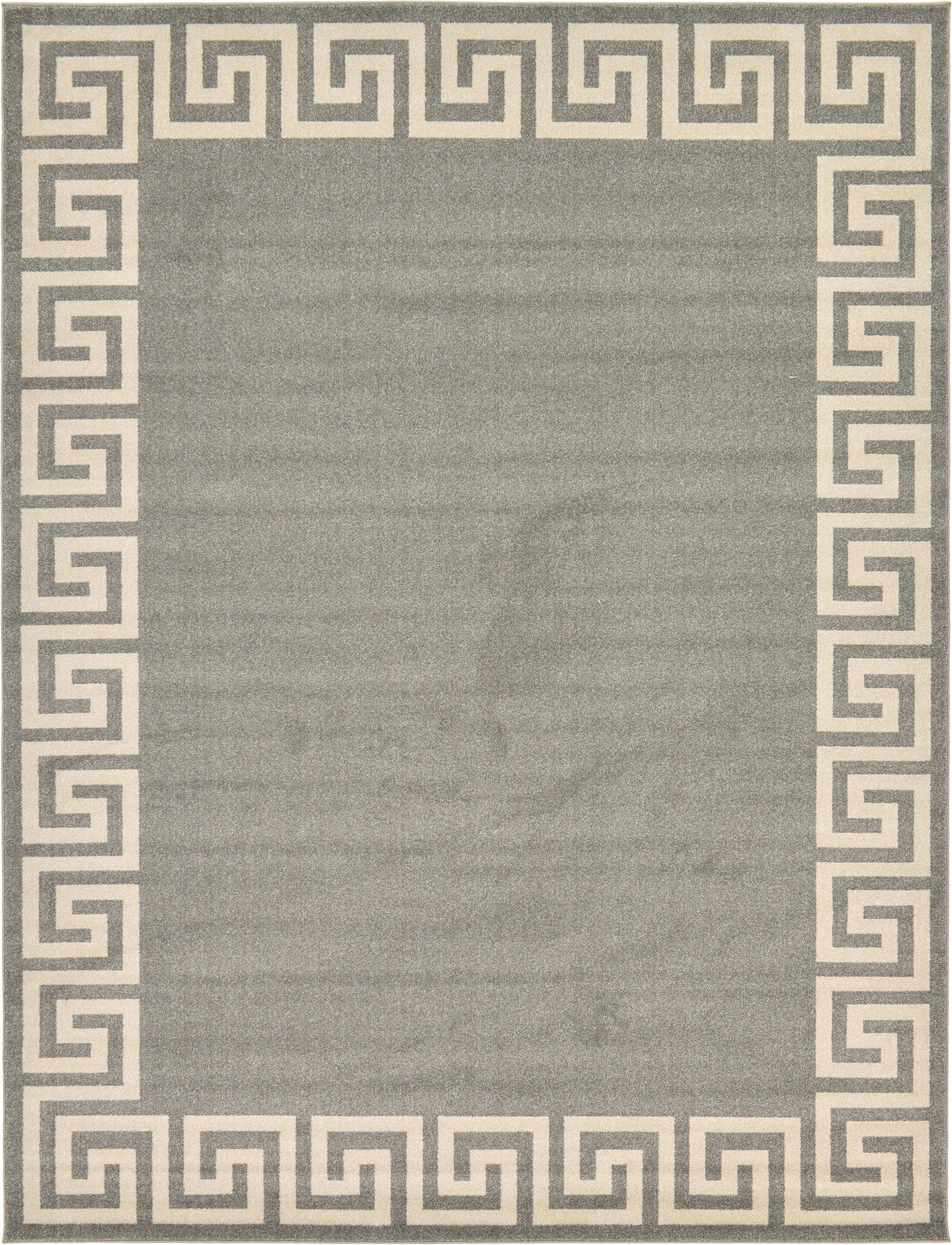 Cendrillon Gray Area Rug Rug Size: Rectangle 9' x 12'