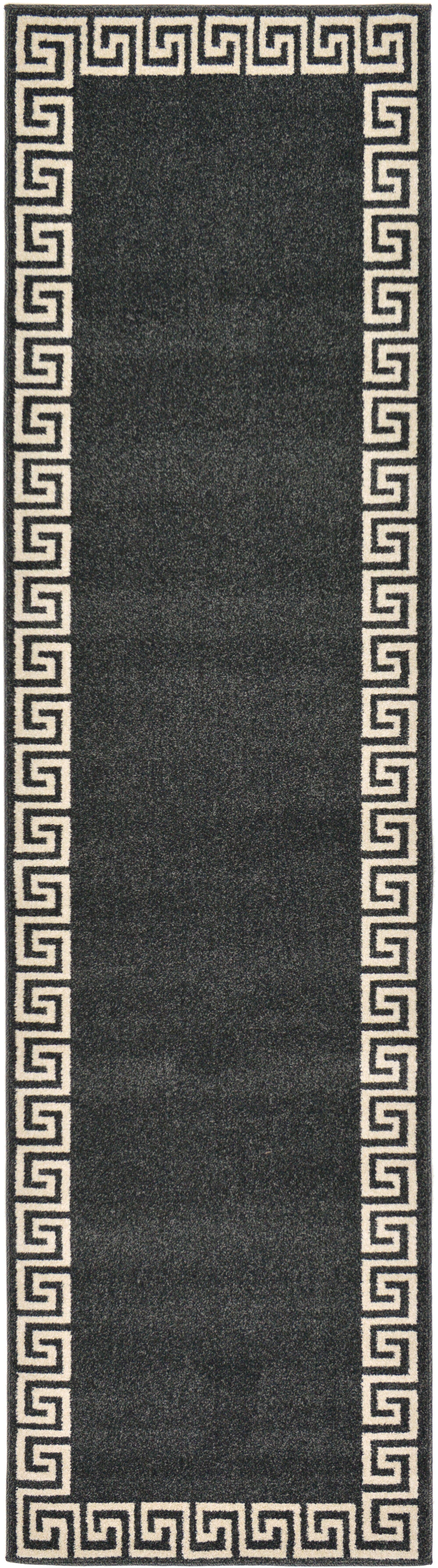 Cendrillon Charcoal Area Rug Rug Size: Runner 2'7