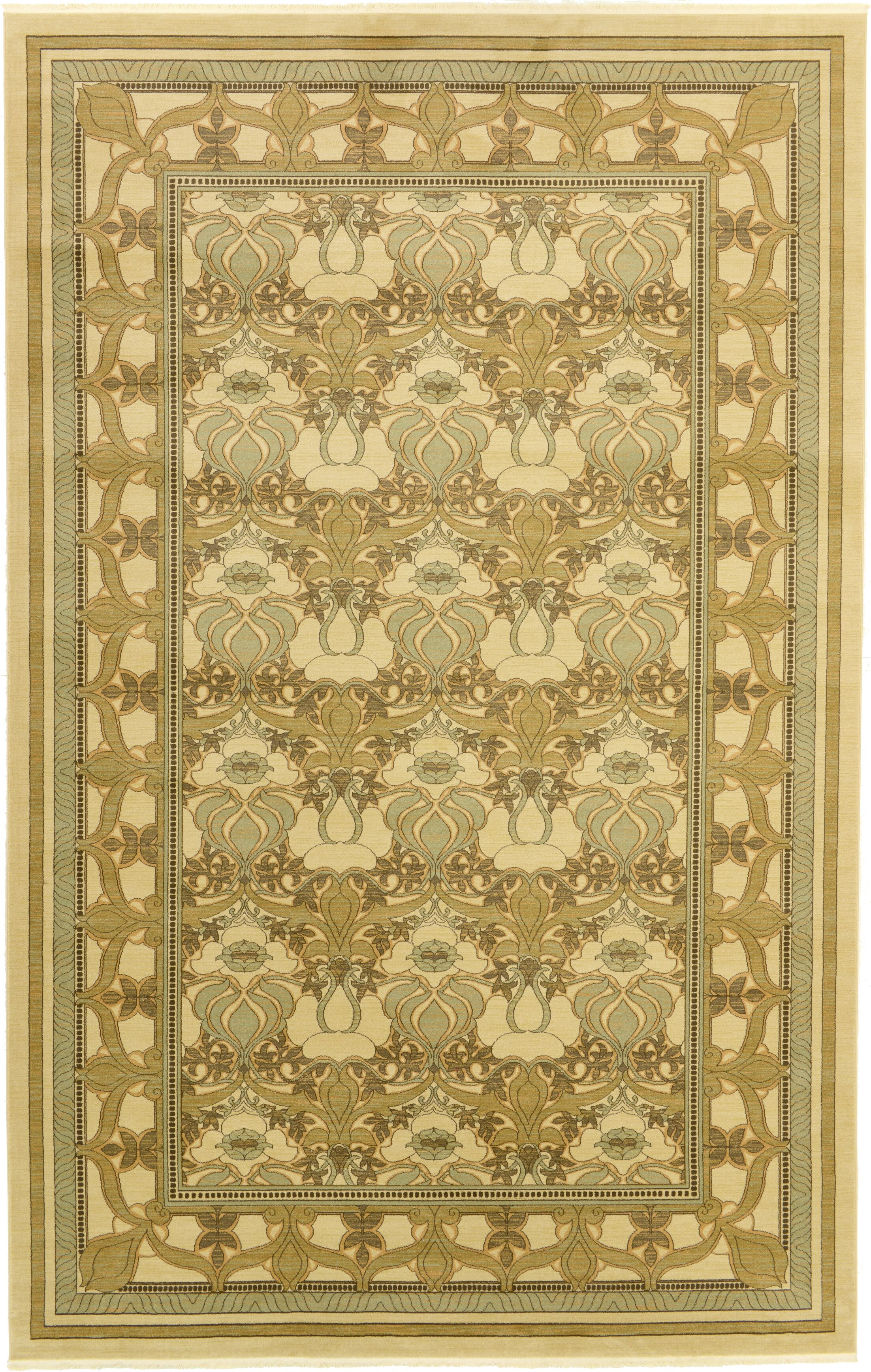 Fonciere Green Area Rug Rug Size: Rectangle 10'6