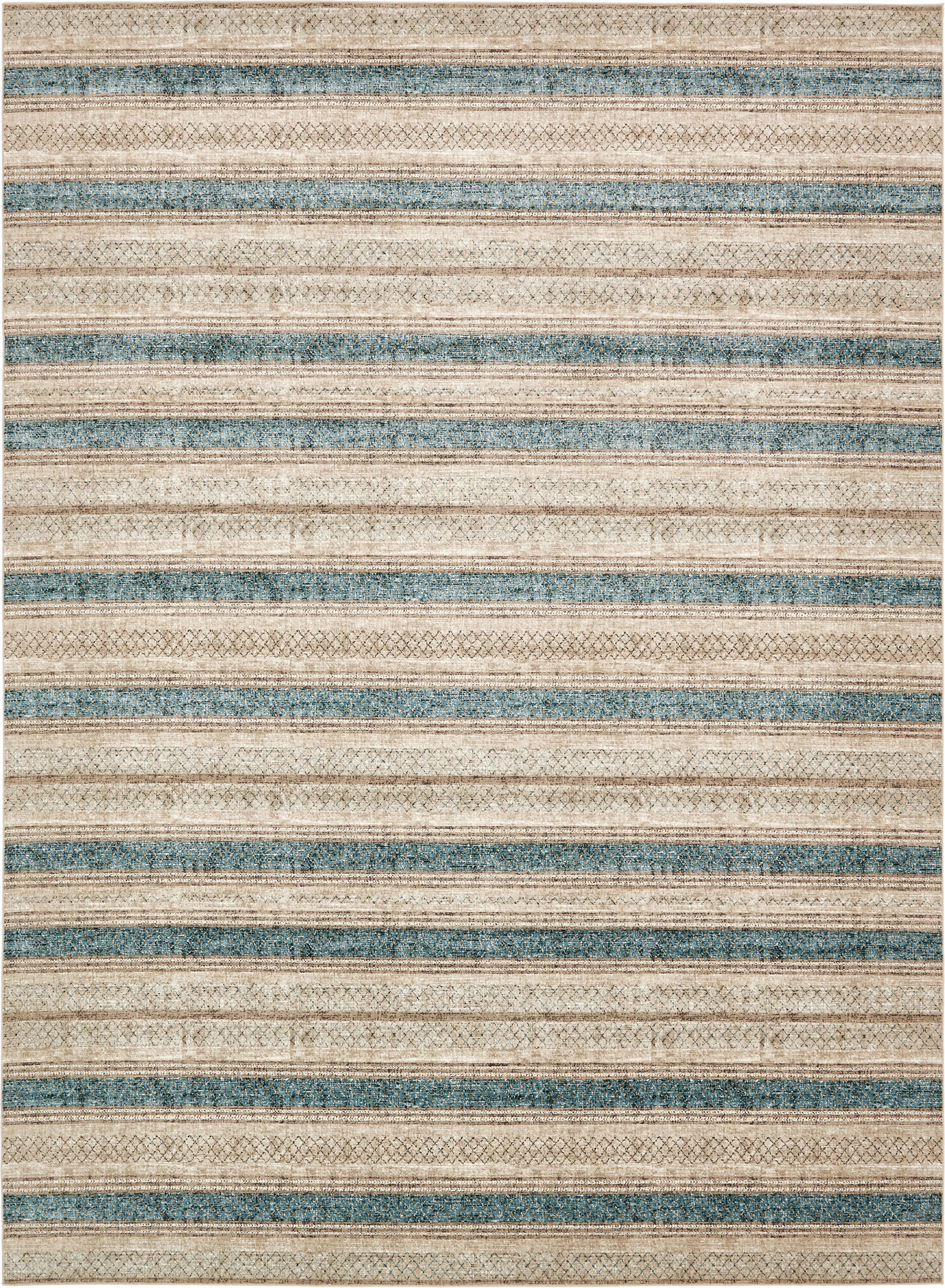 Brayden Beige/Blue Area Rug Rug Size: Rectangle 10' x 13'