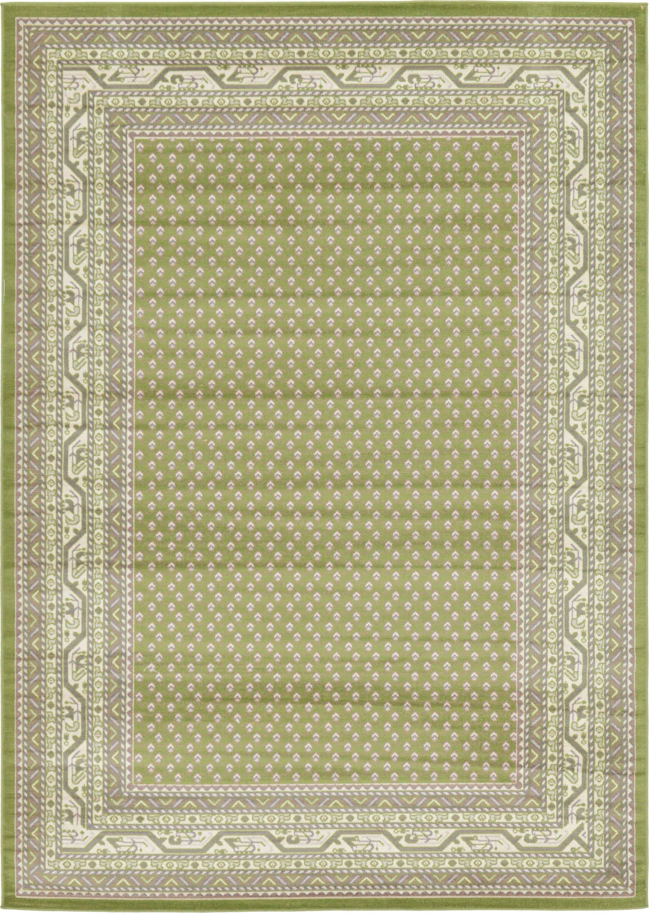 Gillam Geometric Green Area Rug Rug Size: Rectangle 7' x 10'