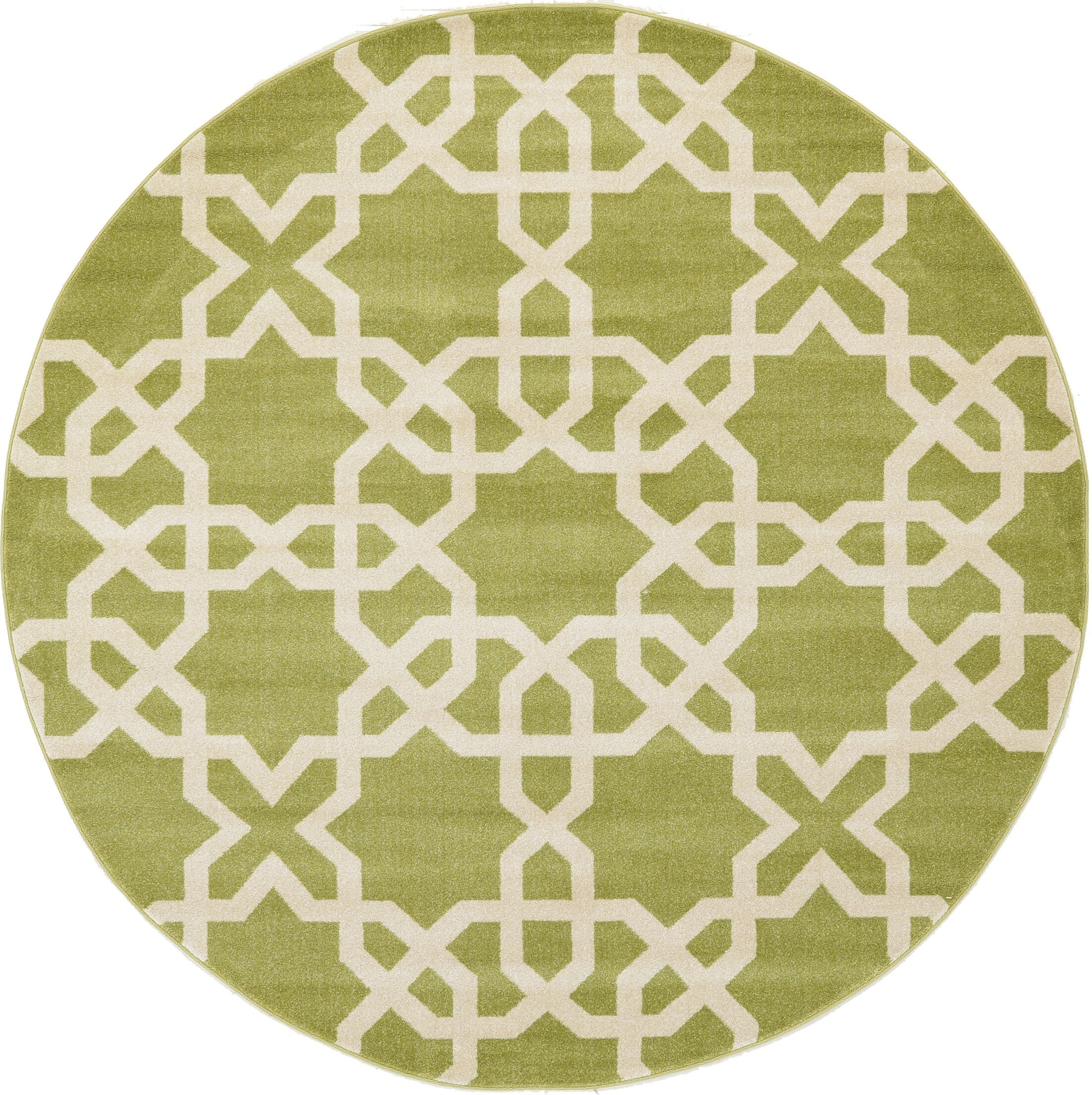 Moore Green Area Rug Rug Size: Round 8'