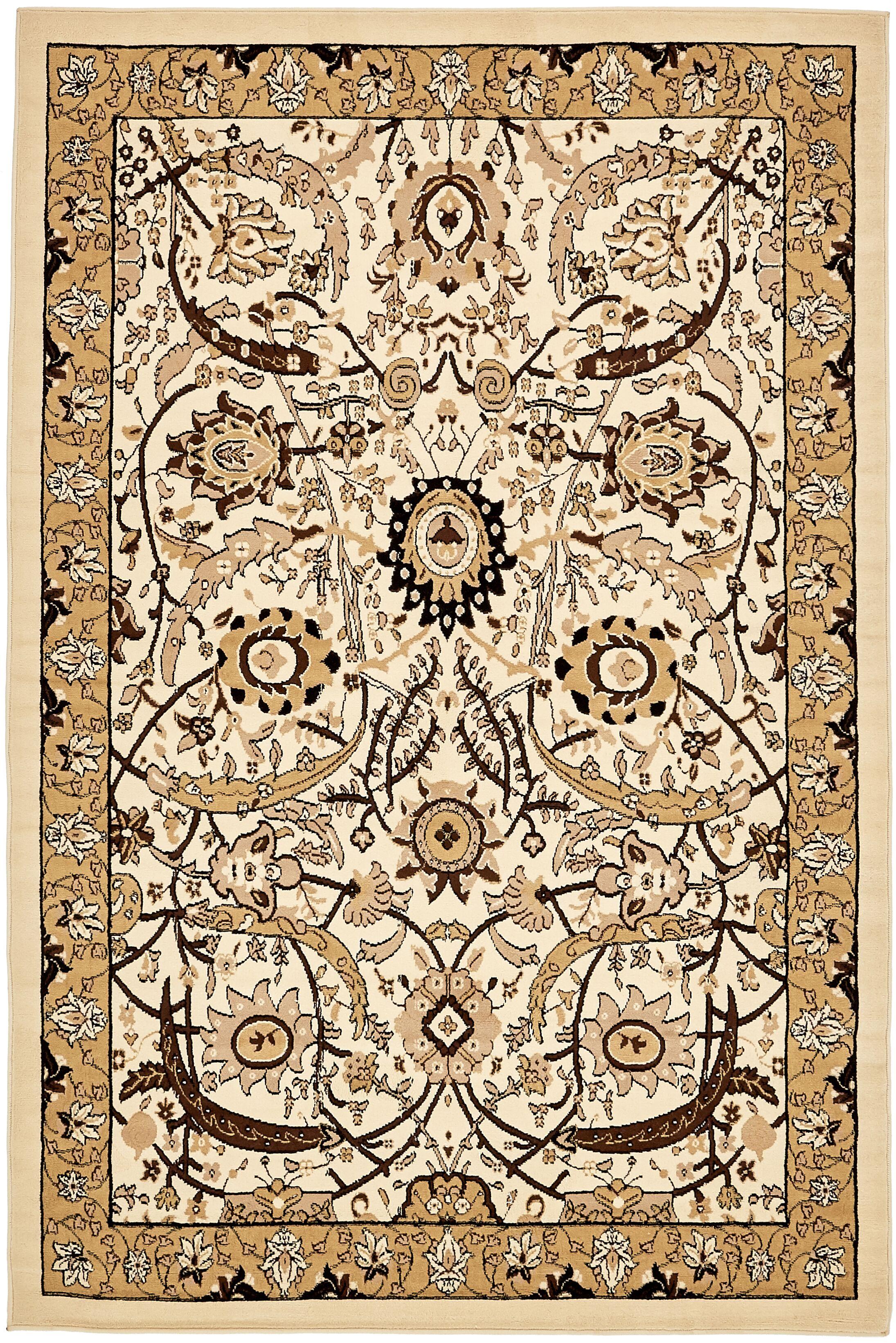 Britannia Ivory Area Rug Rug Size: Rectangle 6' x 9'