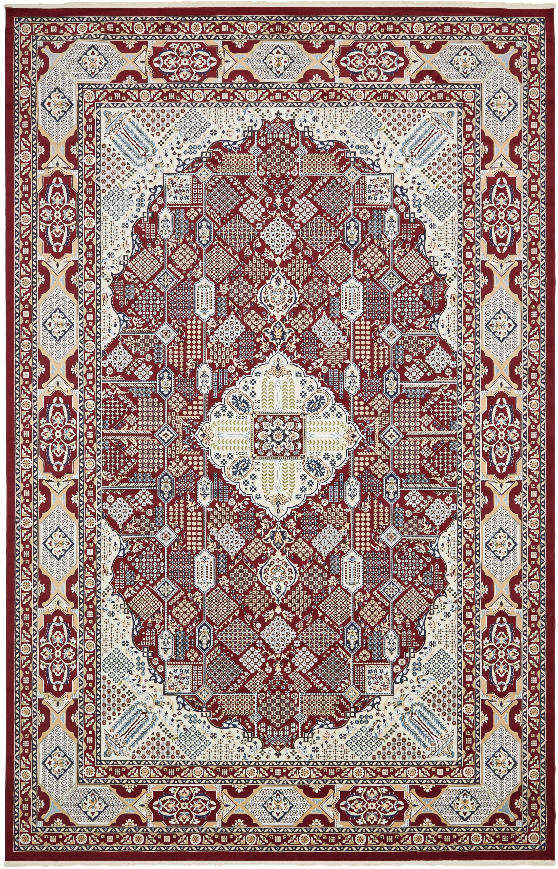 Jackson Burgundy Area Rug Rug Size: Rectangle 13' x 19'8