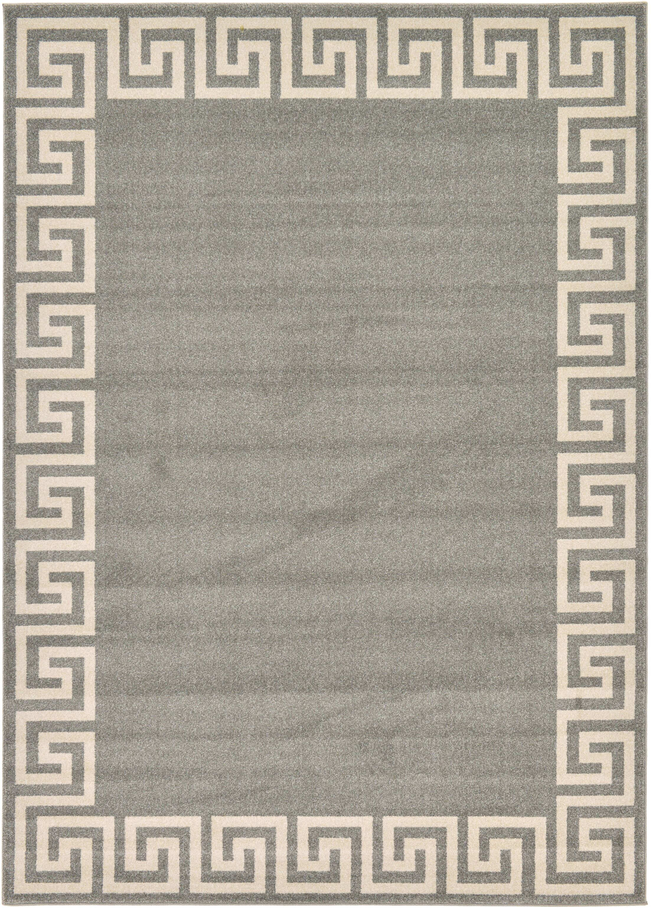 Cendrillon Gray Area Rug Rug Size: Rectangle 7' x 10'
