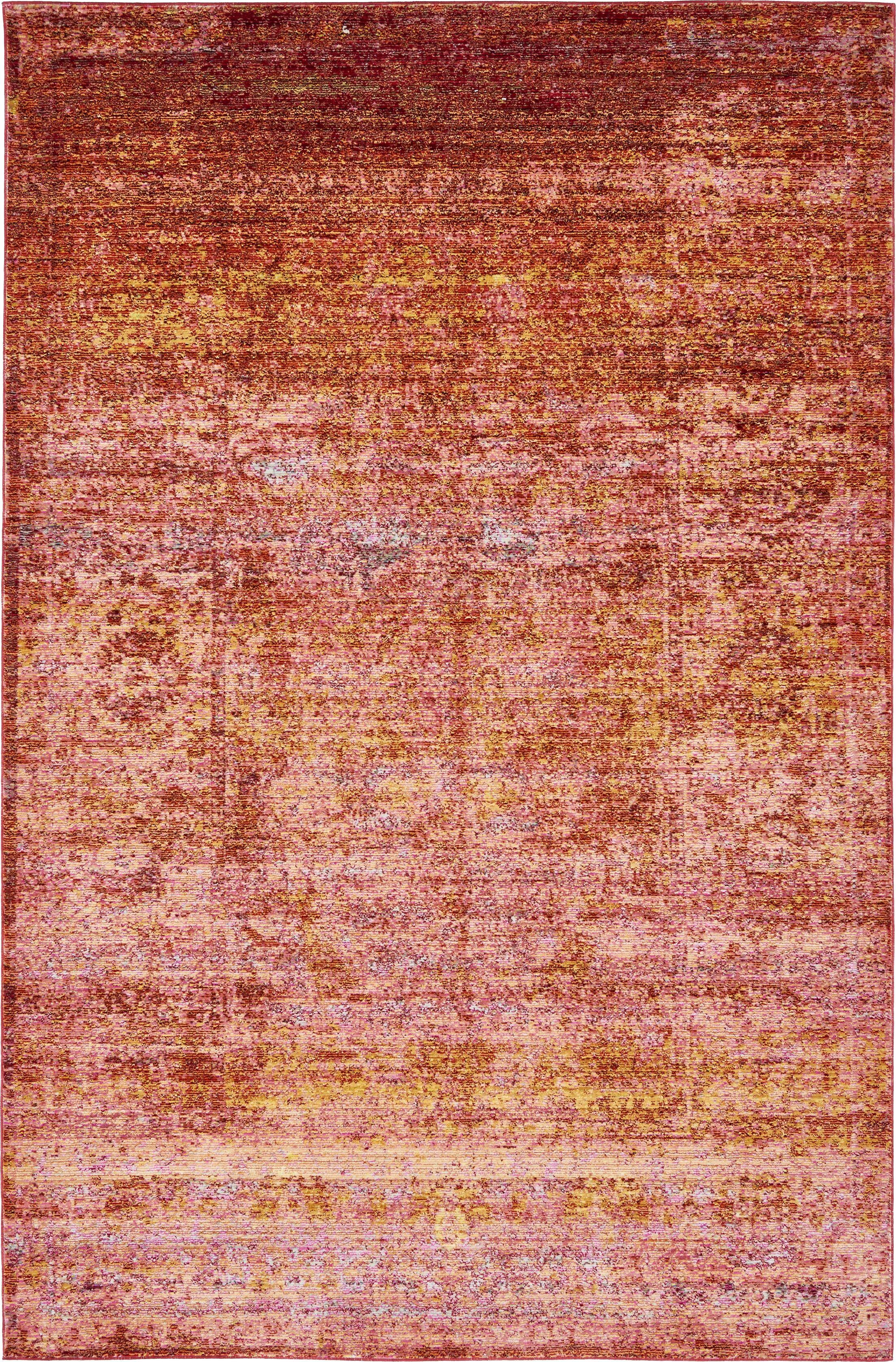 Browne Orange Area Rug Rug Size: Rectangle 5' x 8'