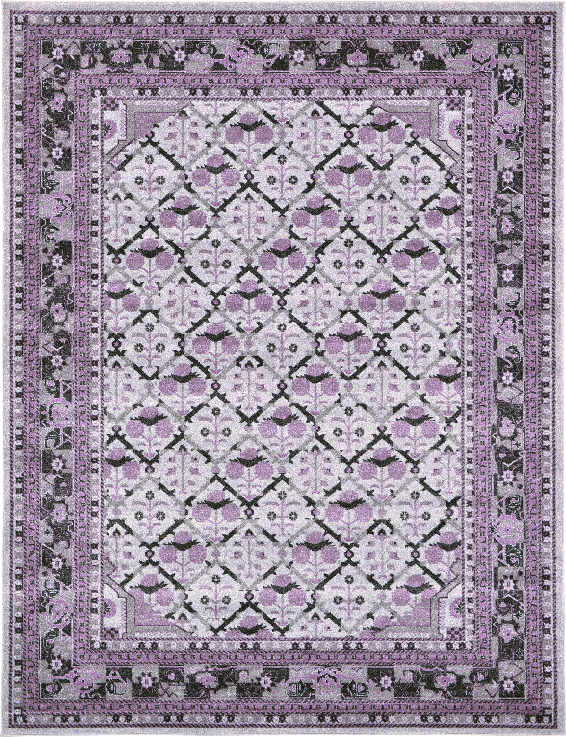 Lisbon Light Gray Area Rug Rug Size: Rectangle 9' x 12'