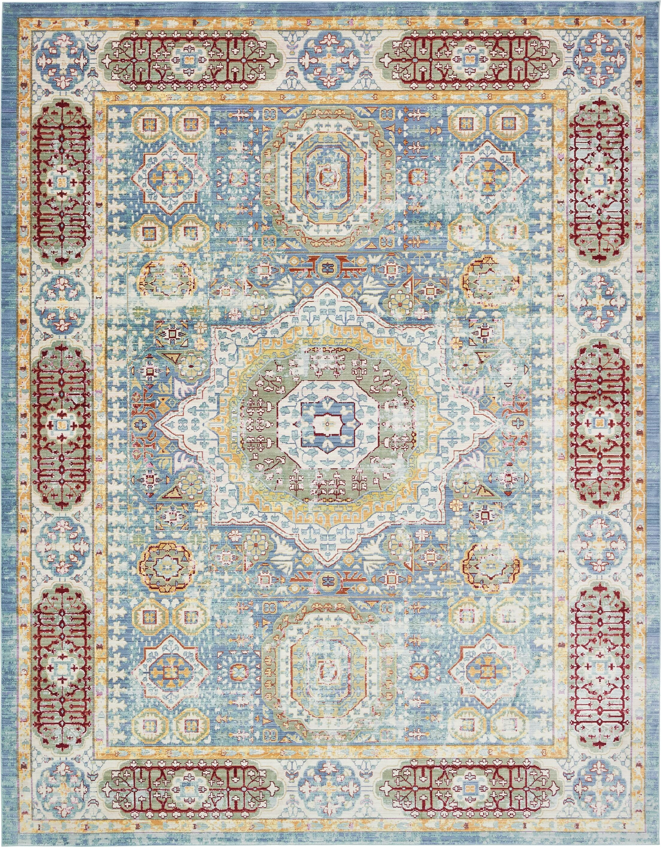 Laurelwood Blue / Red Area Rug Rug Size: Rectangle 10' x 13'