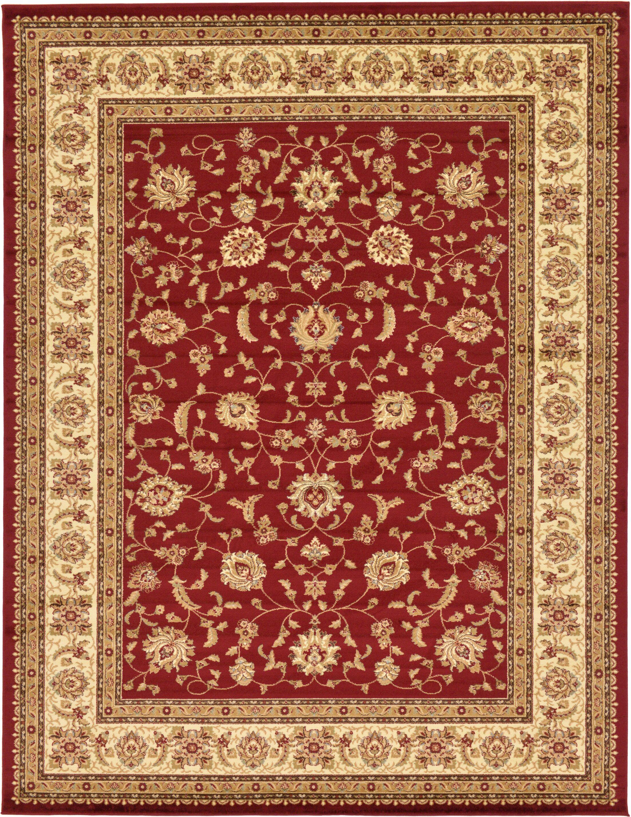 Fairmount Red/Cream Area Rug Rug Size: Rectangle 10' x 13'