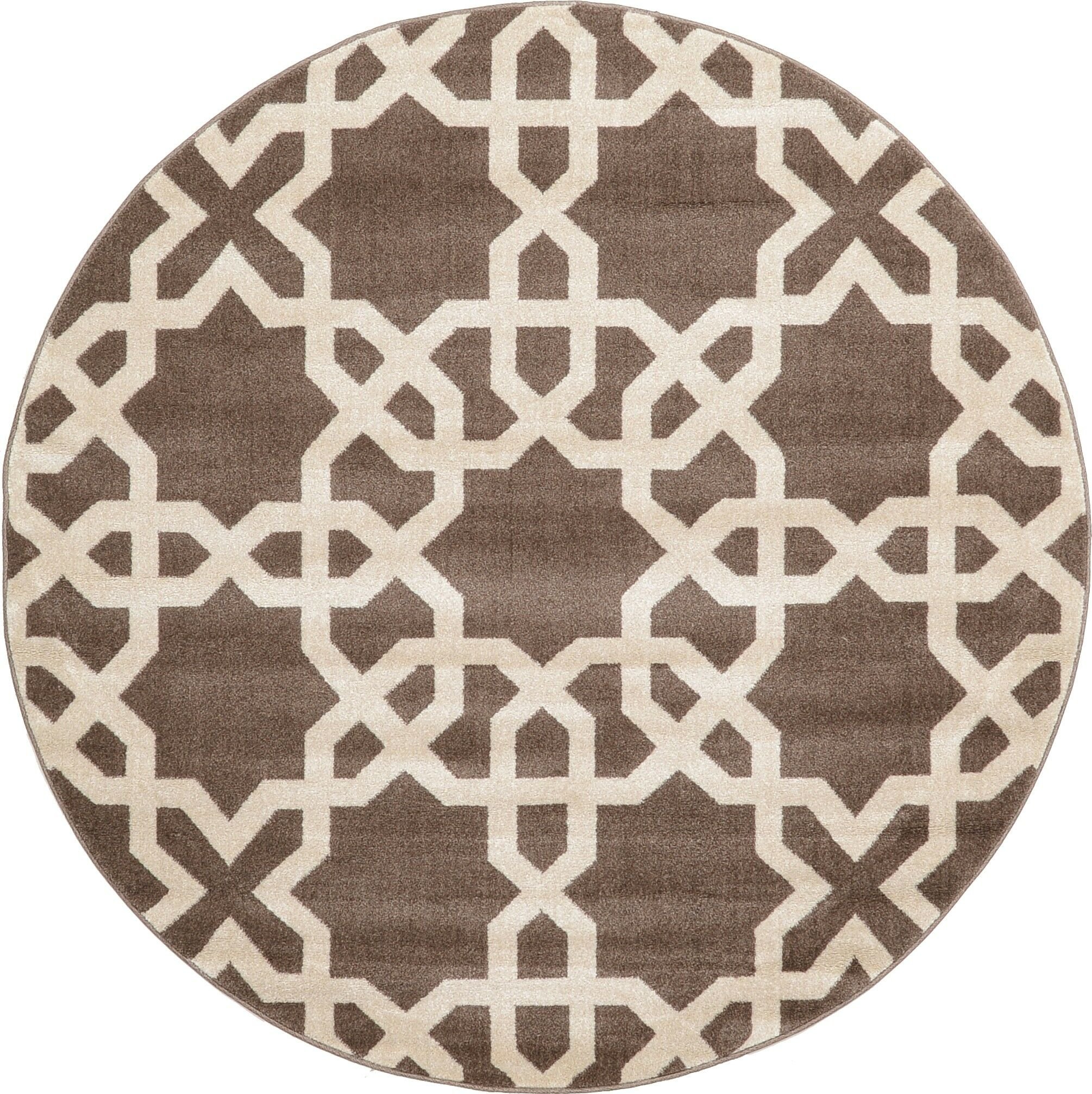 Moore Light Brown Area Rug Rug Size: Round 6'