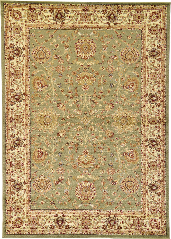 Fairmount Light Green Oriental Area Rug Rug Size: Rectangle 7' x 10'
