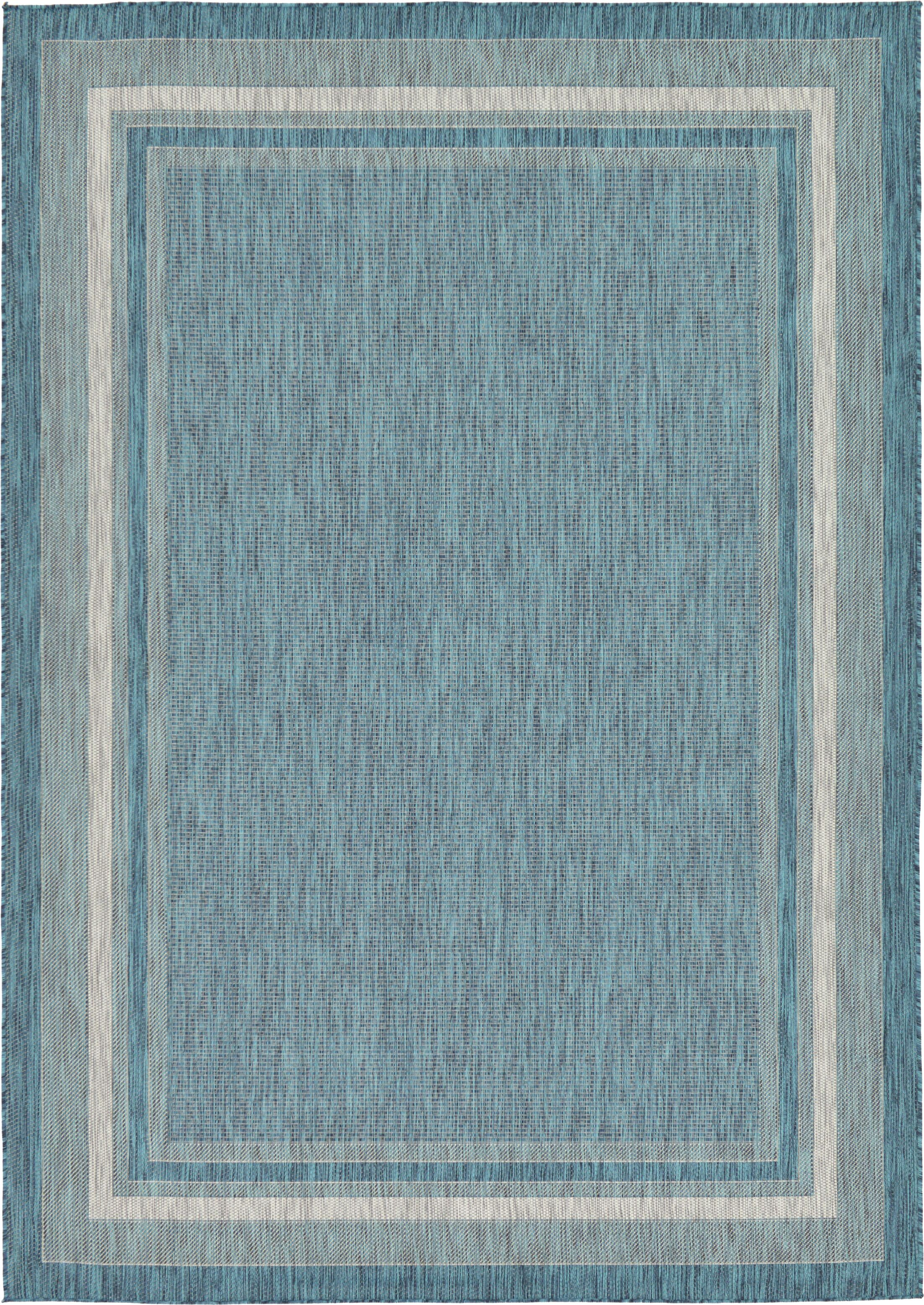 Keira Teal Outdoor Area Rug Rug Size: Rectangle 7' x 10'
