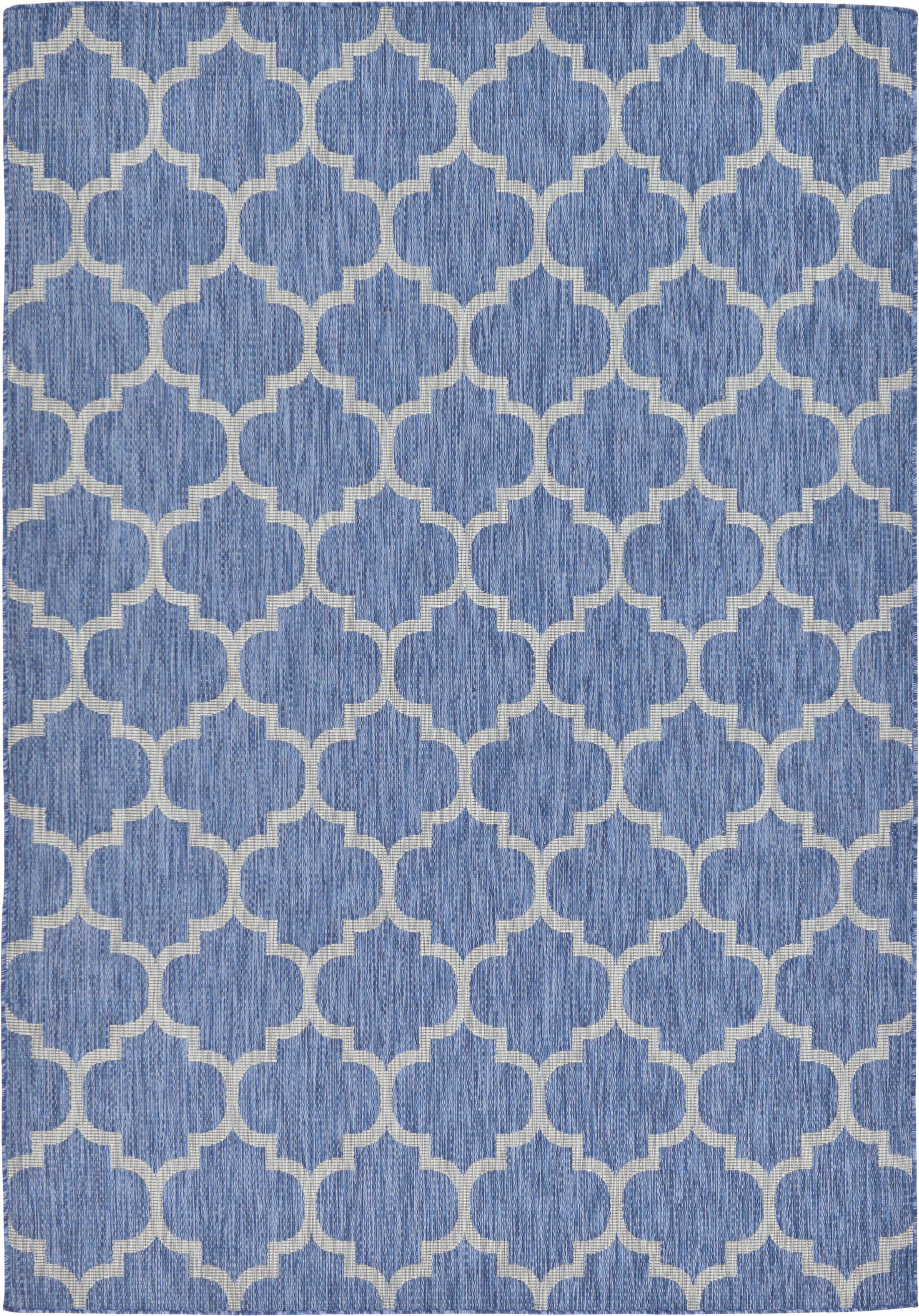 Harding Blue Outdoor Area Rug Rug Size: Rectangle 7' x 10'