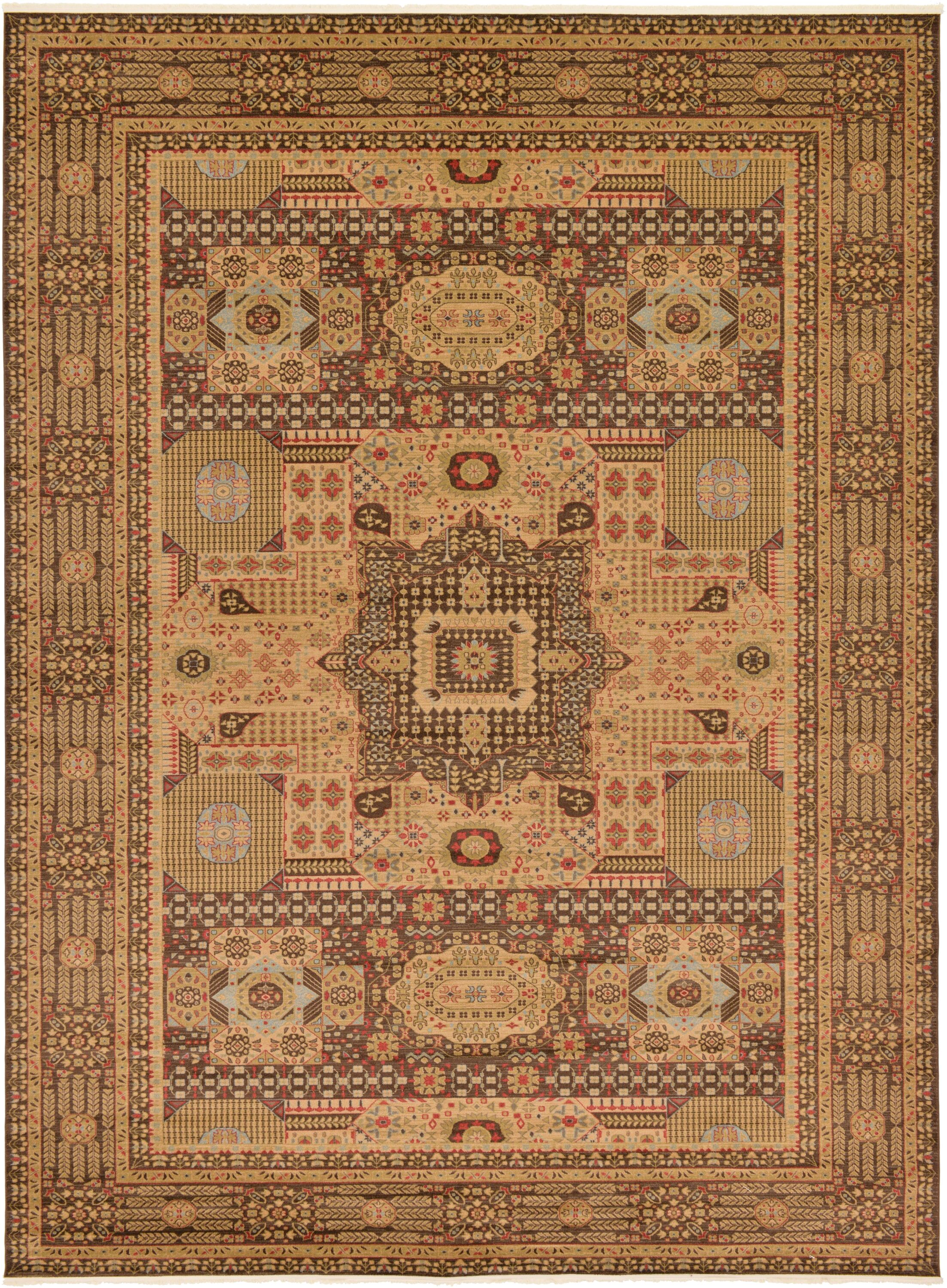 Laurelwood Brown Area Rug Rug Size: Rectangle 13' x 18'