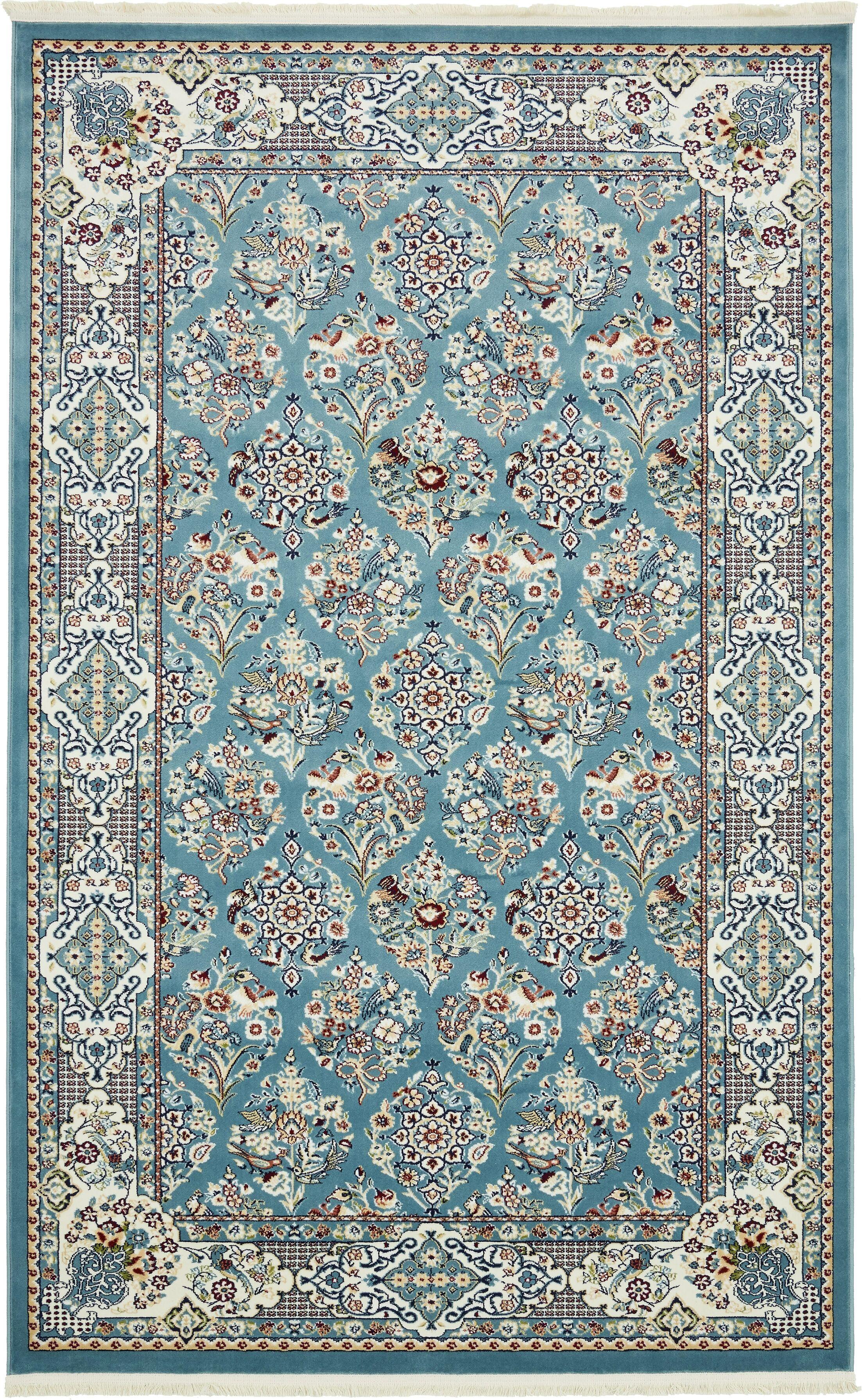 Jackson Blue Area Rug Rug Size: Rectangle 5' x 8'