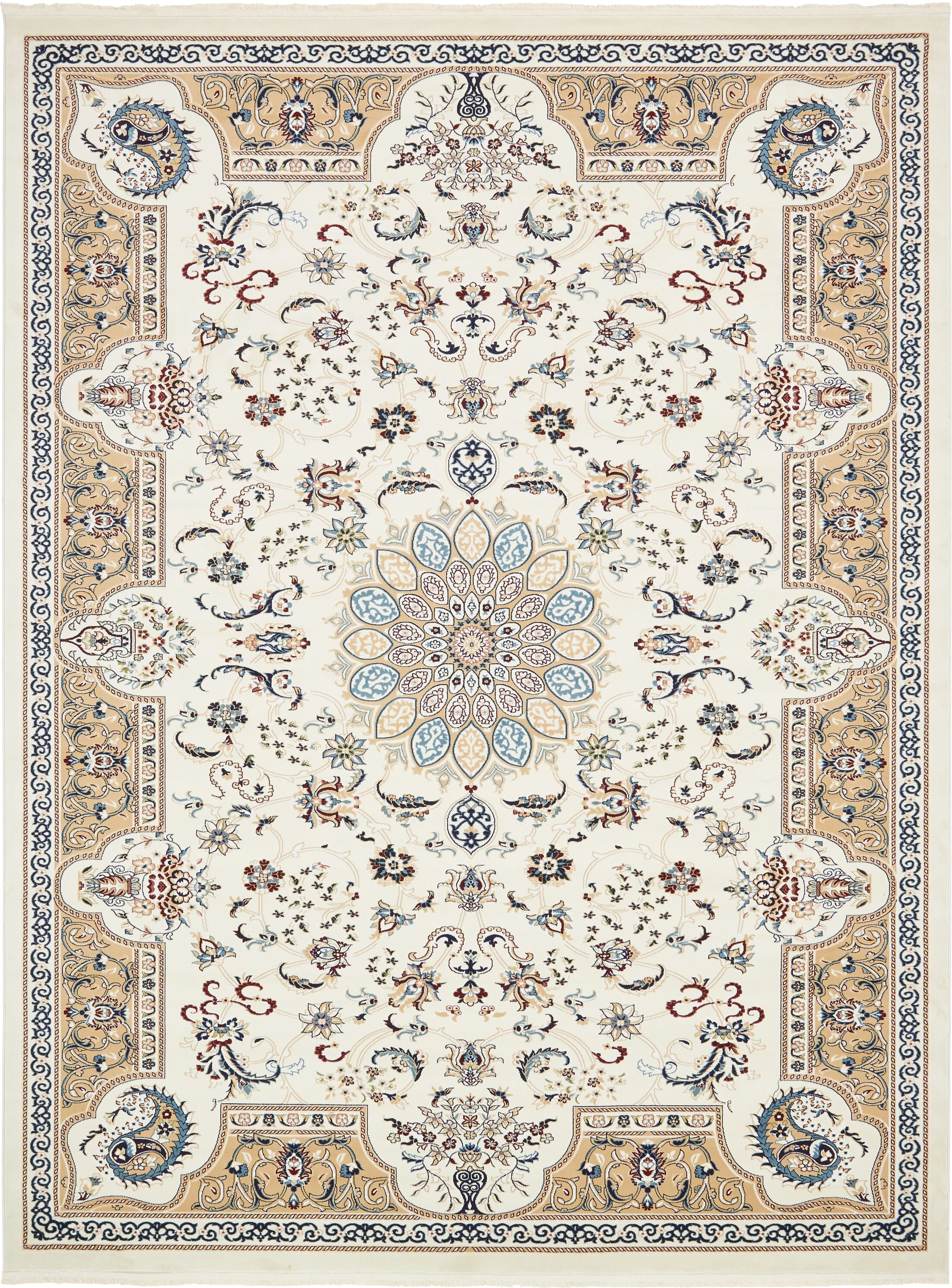 Jackson Ivory Area Rug Rug Size: Rectangle 10' x 13'