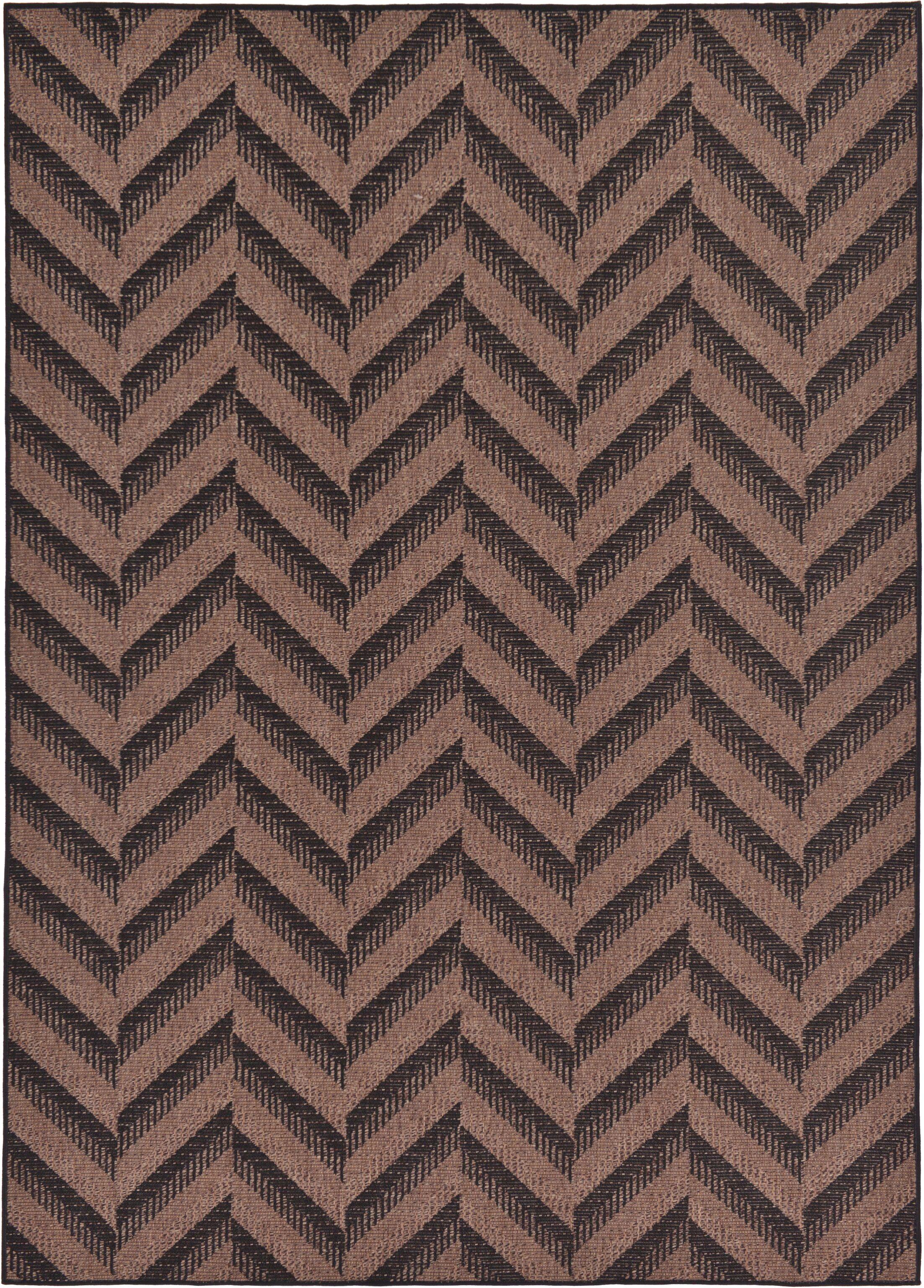 Jordan Brown Outdoor Area Rug Rug Size: Rectangle 7' x 10'